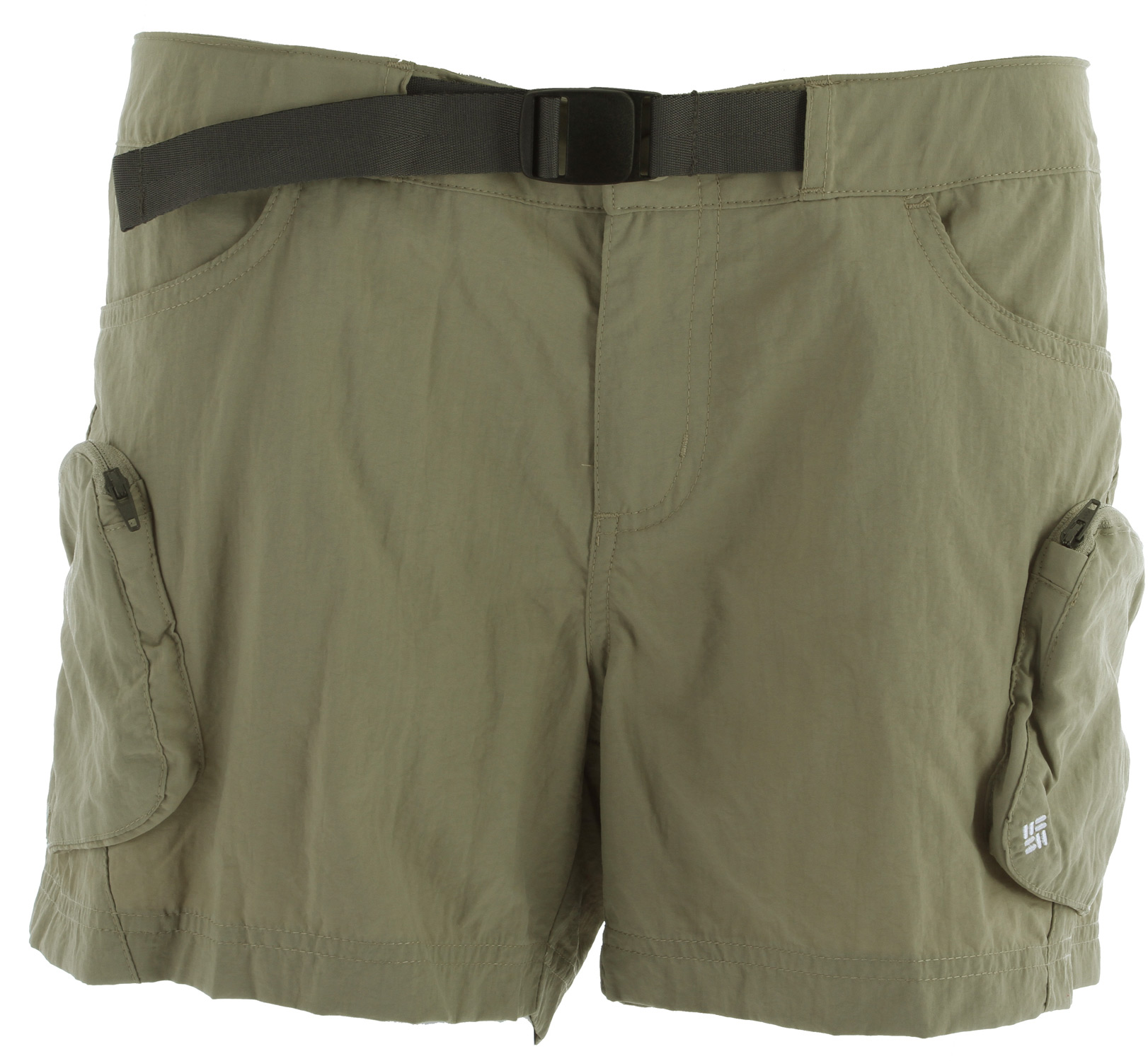 Key Features of the Columbia Cross On Over Cargo Shorts: 100% Supplex® nylon woven Omni-Wick™ Active fit, mid rise Exterior adjustable waistband Zip-closed security pockets - $23.95