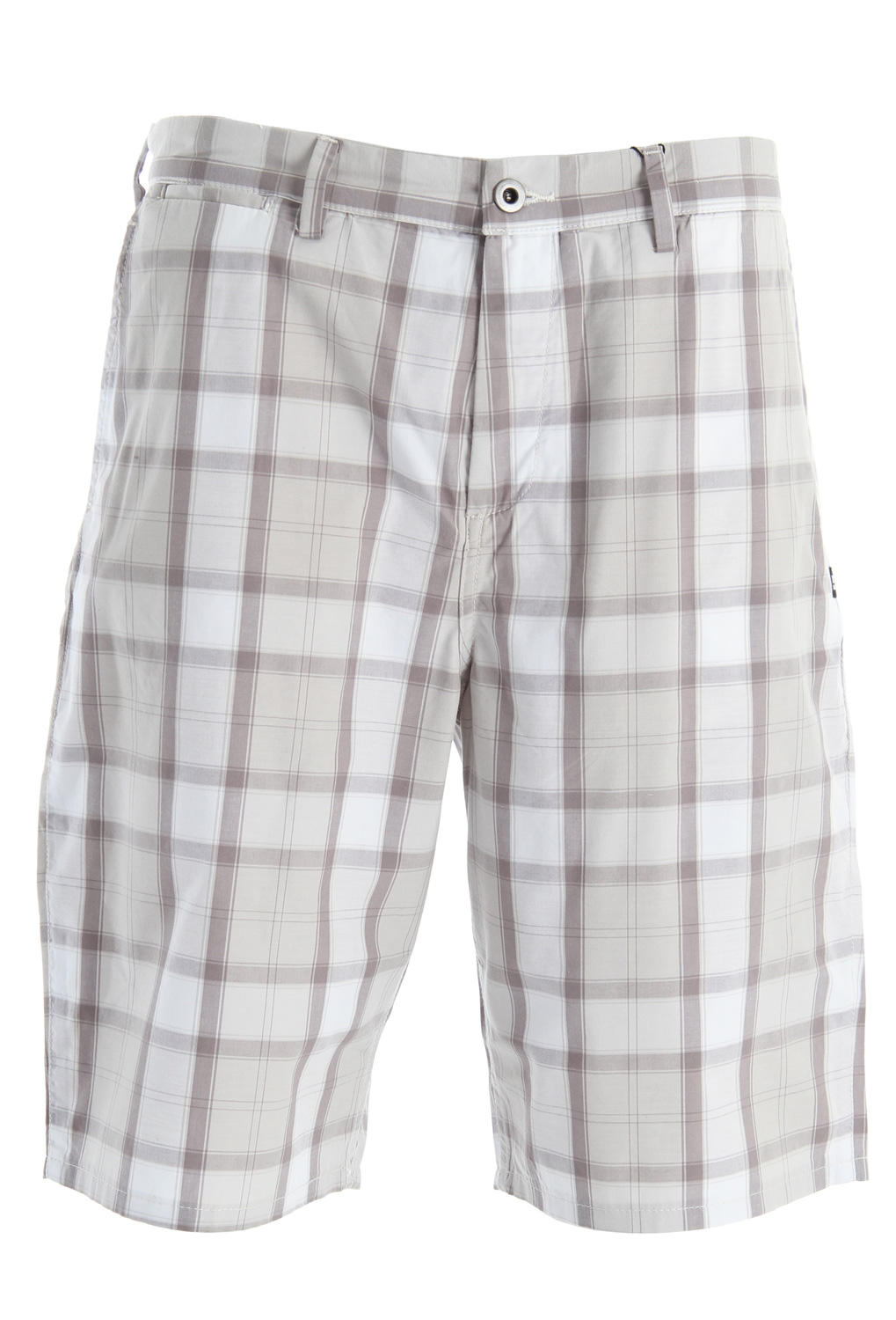 "Skateboard Key Features of the DC Countdown Shorts: Yarn dye small plaid walkshort with classic chino fit with rear welt pockets and front coin pocket YKK zip fly Woven label trim detail 22"" outseam 70% cotton/30% polyester - $31.95"