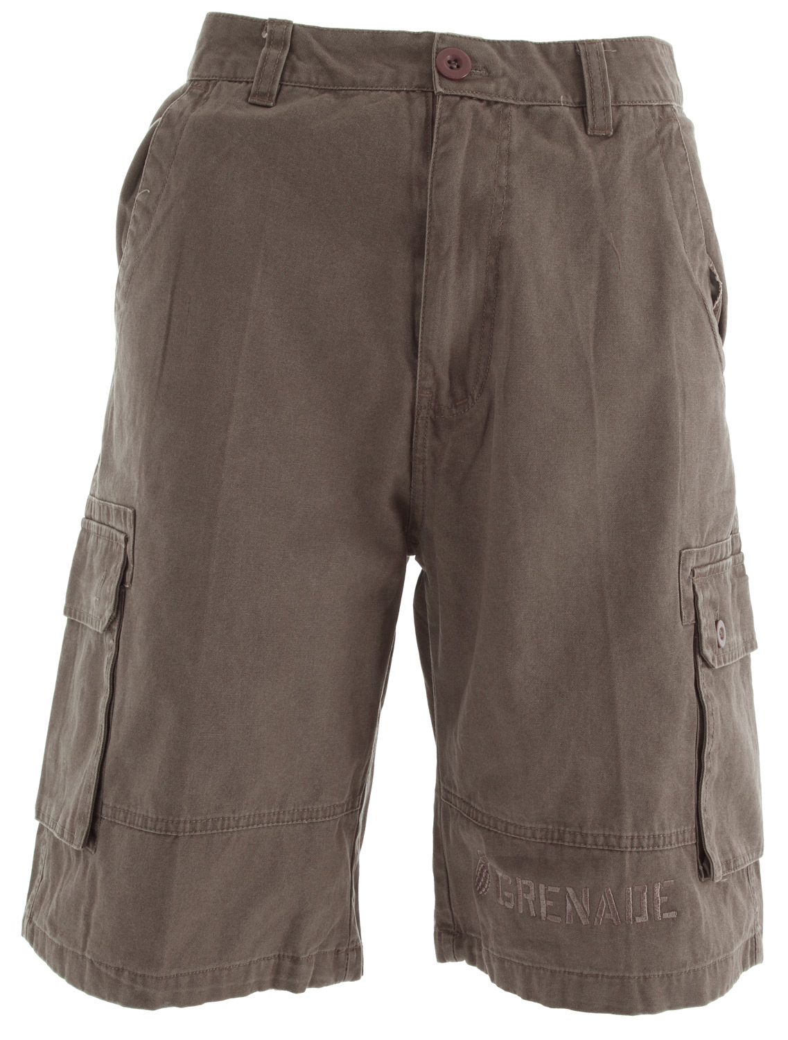 Key Features of the Grenade Cargo Shorts: 100% cotton twill Embroidered leg hit - $27.95