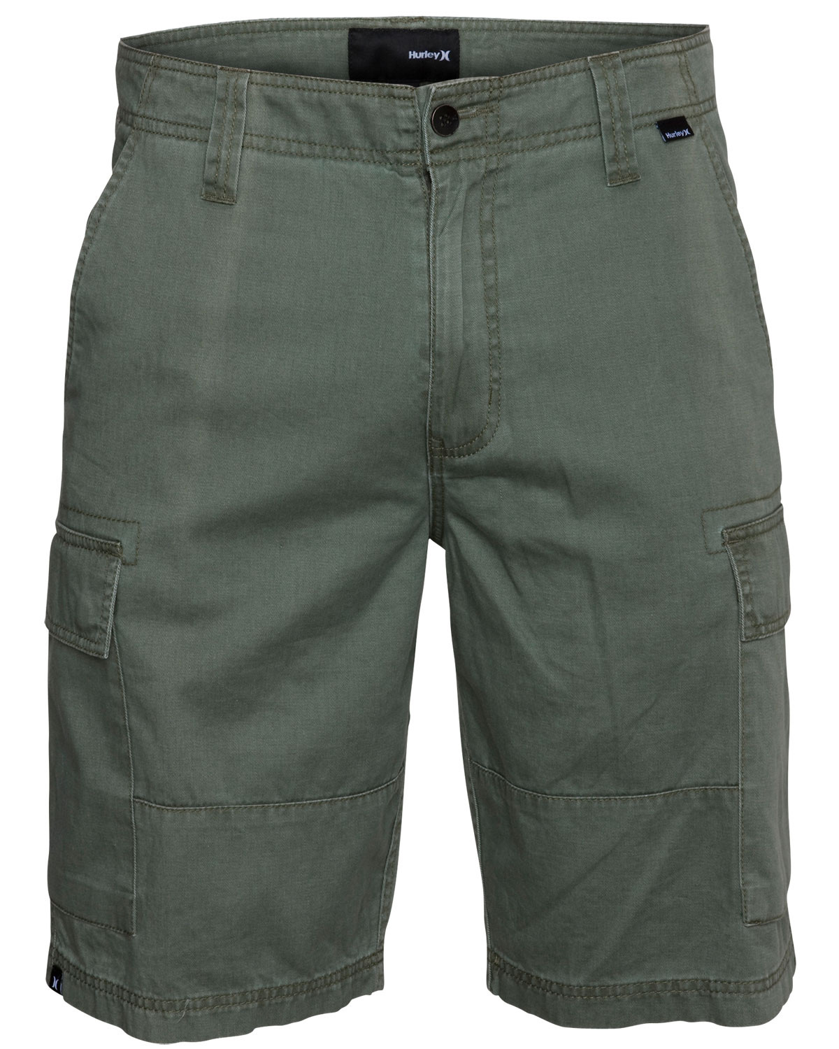 Surf Key Features of the Hurley Commander Shorts: Cargo Fit 100% Cotton Cargo pockets with hidden snaps, military details, woven label, high density screen print and self applique branding at waistband. - $31.95