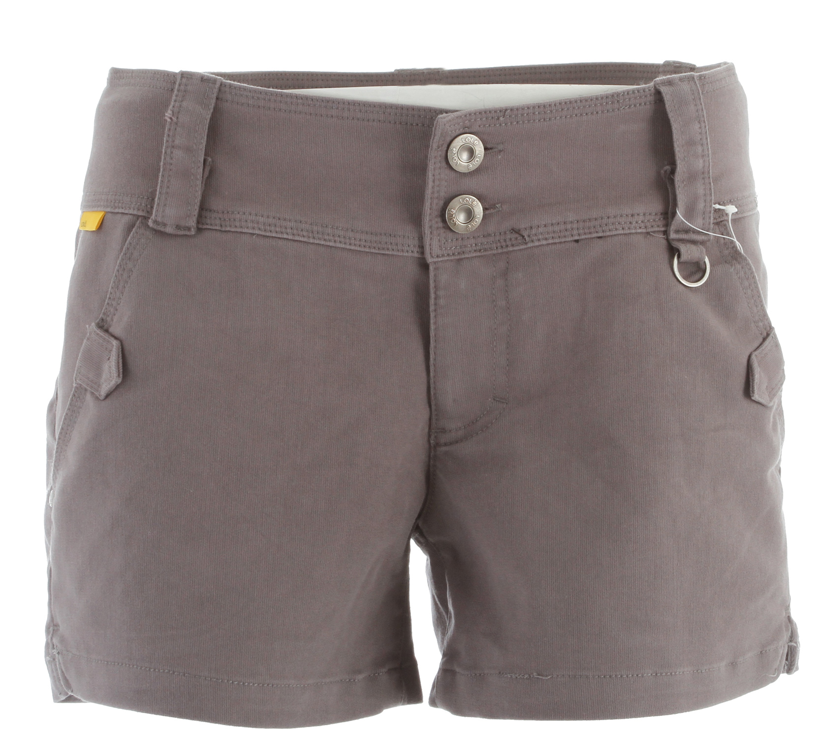 "Camp and Hike Key Features of the Lole Hike Shorts: Shorts with wide waistband 2-button closure at front 2 hand pockets with decorative tabs 1 front secure pocket with flap 2 welt pockets at back D-ring detail at front Side slits Mid rise Straight leg Inseam 4"" - $37.95"
