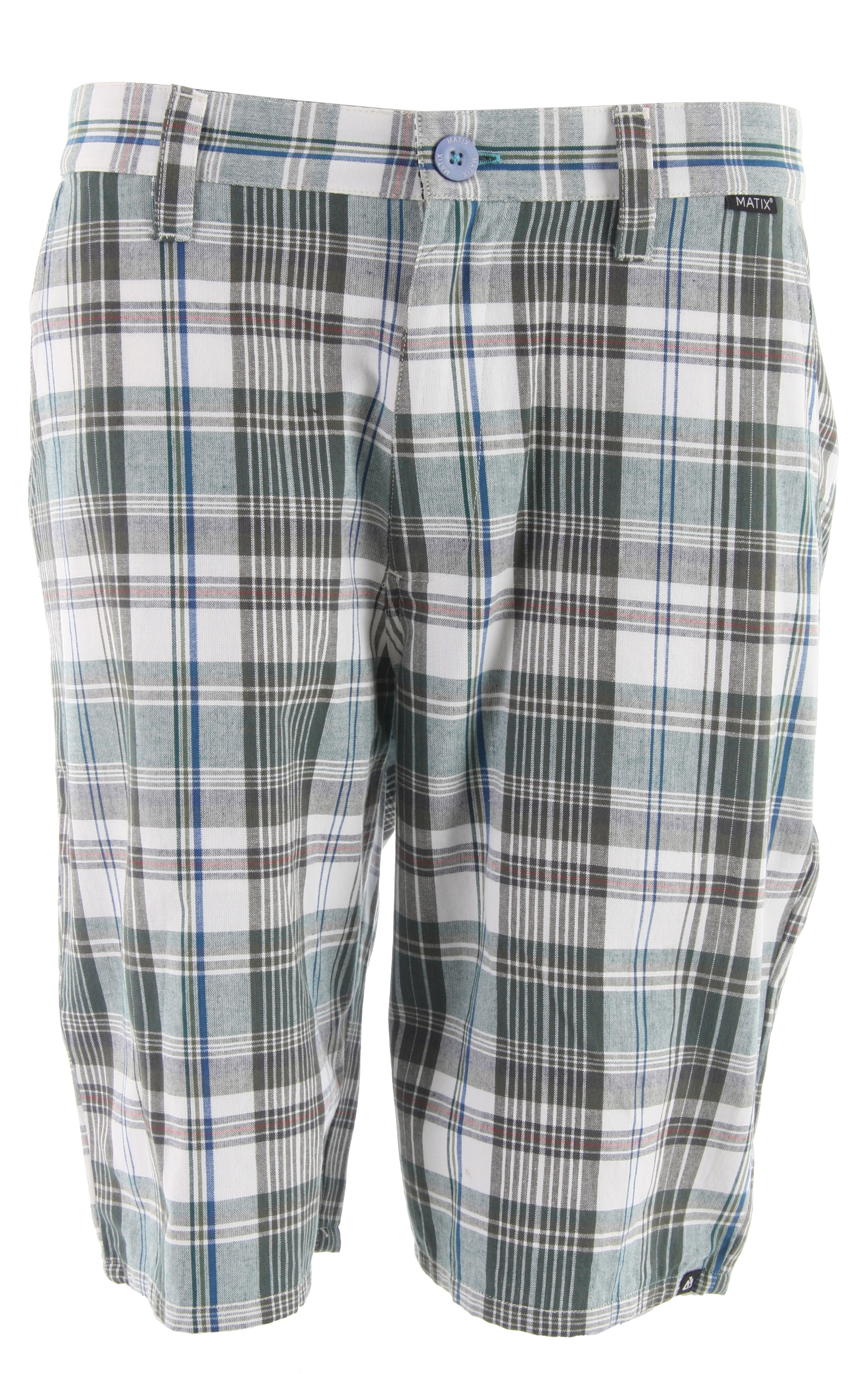 "Key Features of the Matix Kenningan Shorts: 100% Cotton Plaid Plaid short with front/back pockets cellphone pocket contrast inside waistband Matix labeling 22"" outseam for sz 32 - $29.95"