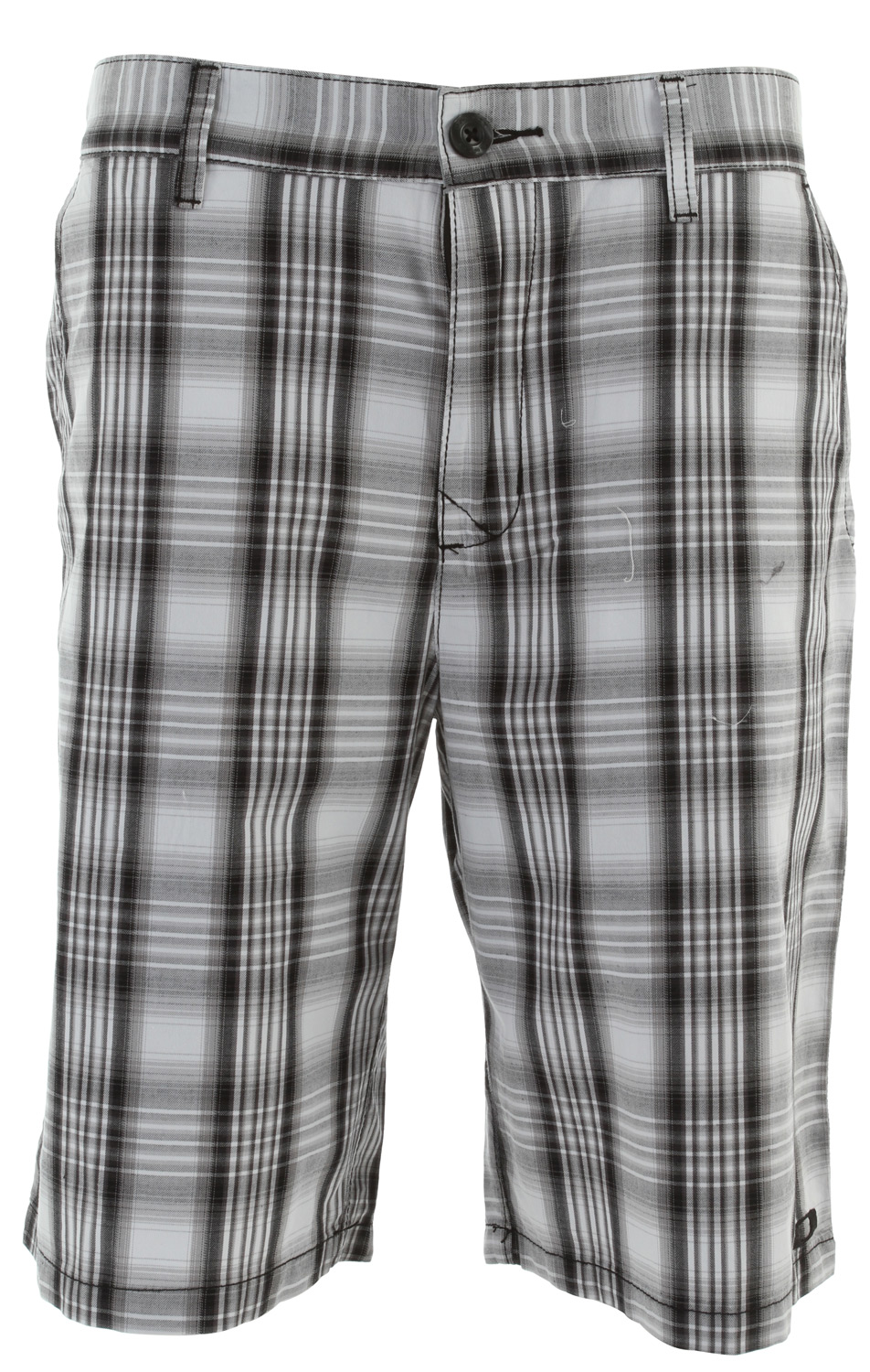 Yarn dye plaid short with zip fly, button closure, embroideries and back flat woven labelKey Features of the Oakley Plaid Short: 100% cotton Regular fit - $31.95
