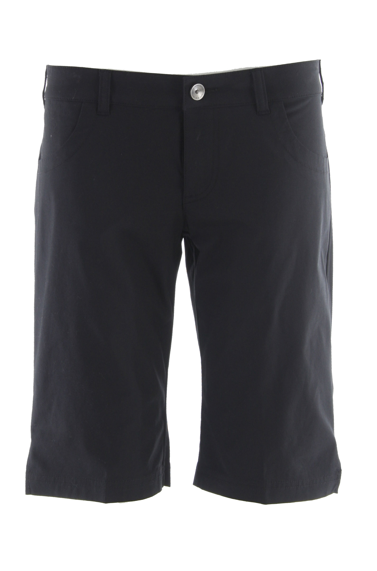 "Key Features of the Oakley Walk Shorts: Solid short with zip front fly Angled front pockets Belt loops 12"" inseam Back welt pocket and embroidered logo - $35.95"