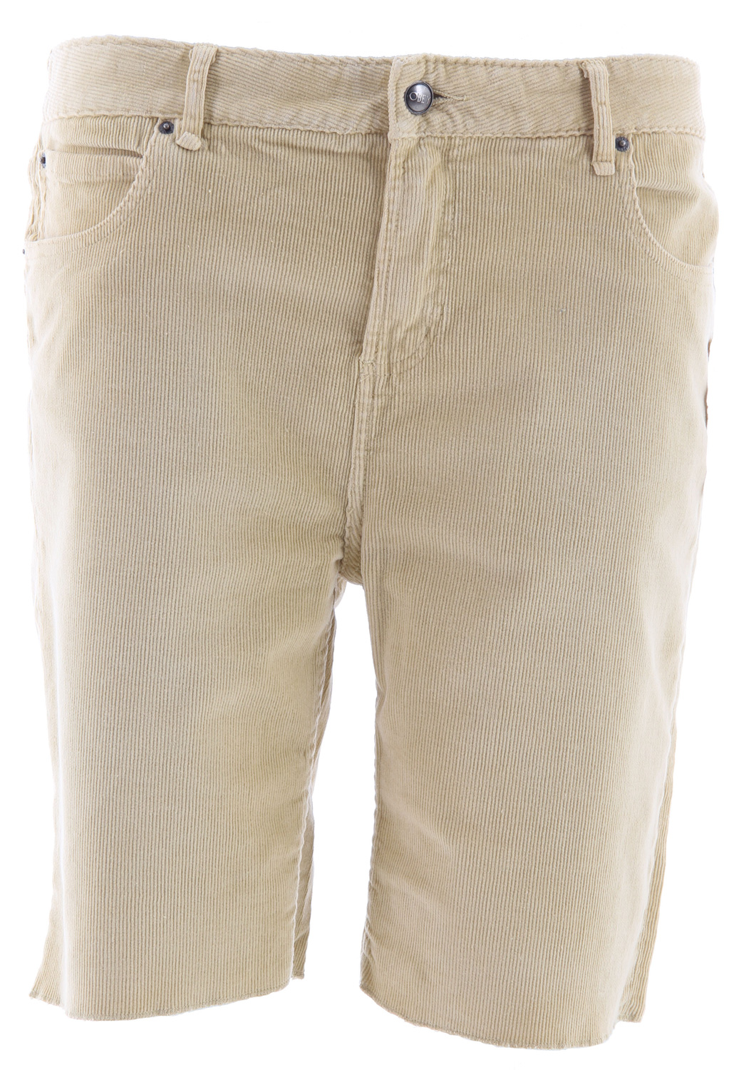 "Key Features of the Obey Juvee Cord Cut Offs Mens Shorts: 99% Cotton/1% Spandex Slim-fit Corduroy short with modern trims and leather patch on back waist 8.5"" - $41.95"