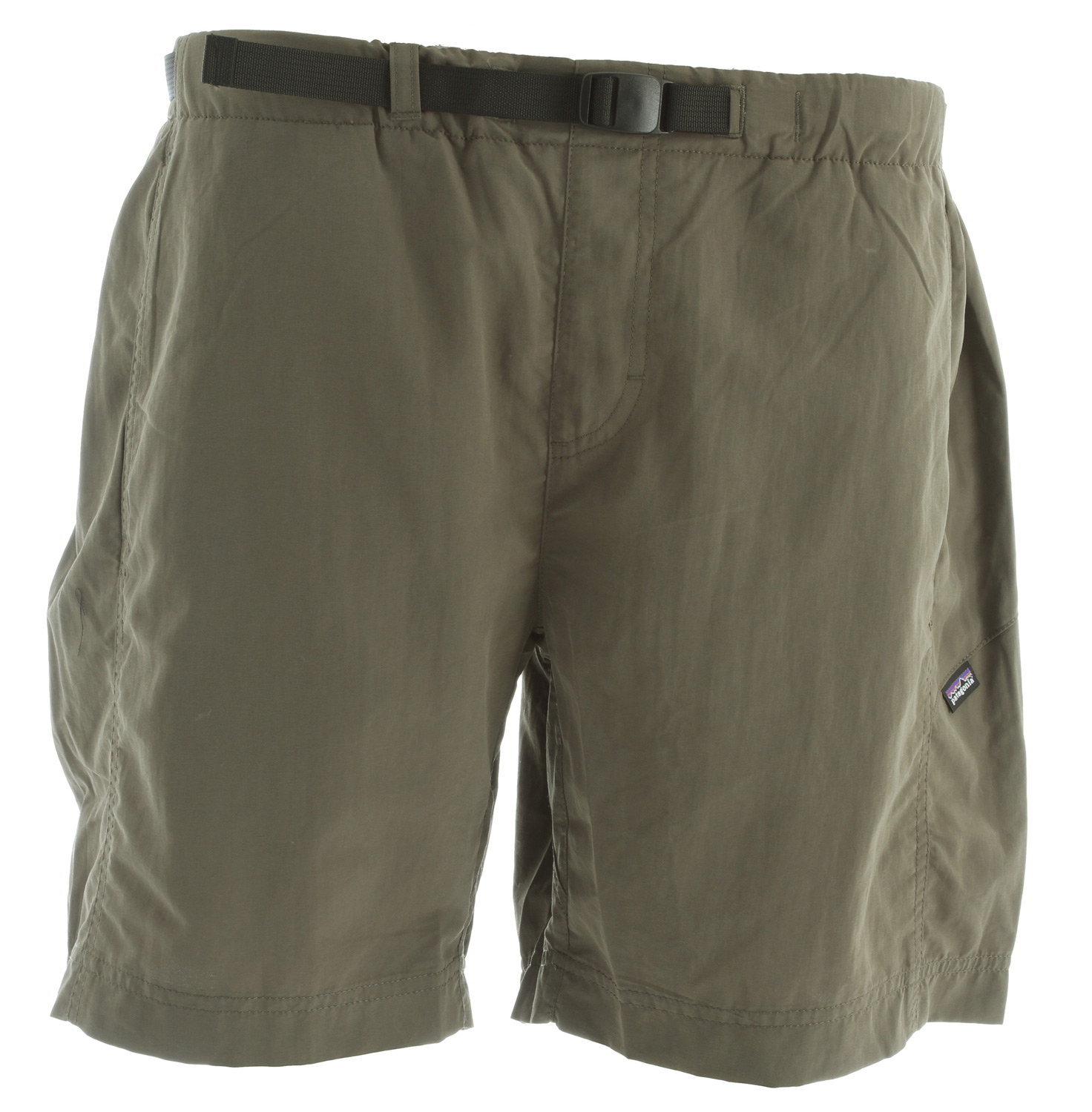"These pull-on water shorts have a quick-drying, light yet tough nylon fabric, a polyester mesh liner, a moisture-shedding DWR (durable water repellent) finish and 50+ UPF sun protection; 7"" inseam. Our Gi III Water Shorts go best with the songs of canyon wrens, the paths of carved sandstone and the turbulence of Crystal Rapid. They dry quickly, resist hard wear, provide 50+ UPF sun protection and feel light on the skin, thanks to their 100% nylon taslan fabric that has a DWR (durable water repellent) finish. The gusseted crotch allows plenty of movement; an elasticized waist with a built-in adjustable webbing belt holds everything in place. A supple polyester mesh liner and three mesh-lined pockets have a soft and forgiving feel. Inseam is 7"".Key Features of the Patagonia GI III 7"" Water Shorts: Durable, quick-drying nylon twill shorts with a DWR finish and internal mesh liner for land and water use Pull-on shorts with elasticized waistband and built-in adjustable belt with separating buckle Coin safe on-seam front pockets with polyester mesh for drainage Right rear drop-in zip pocket has non-corrosive zipper and polyester mesh for drainage Gusseted crotch for increased mobility 3.4-oz 100% nylon taslan with a DWR (durable water repellent) finish and 50+ UPF sun protection. Liner: 100% polyester mesh 221 g (7.8 oz) Made in Vietnam. - $29.95"