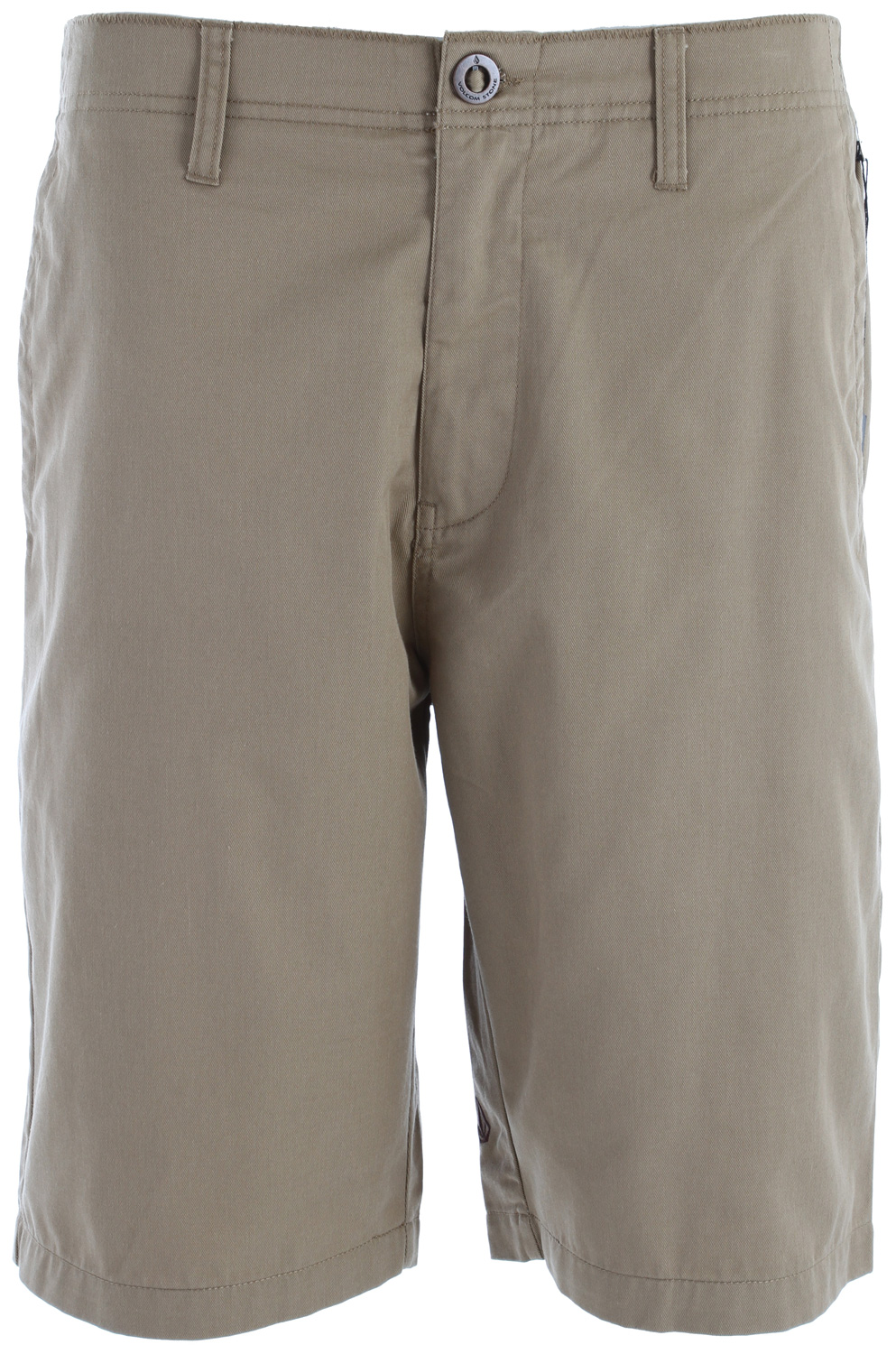 "Surf Key Features of the Volcom Fairmondo Shorts: 22"" Outseem Relaxed fit Pre-laundered 60% cotton/40% polyester twill - $24.95"