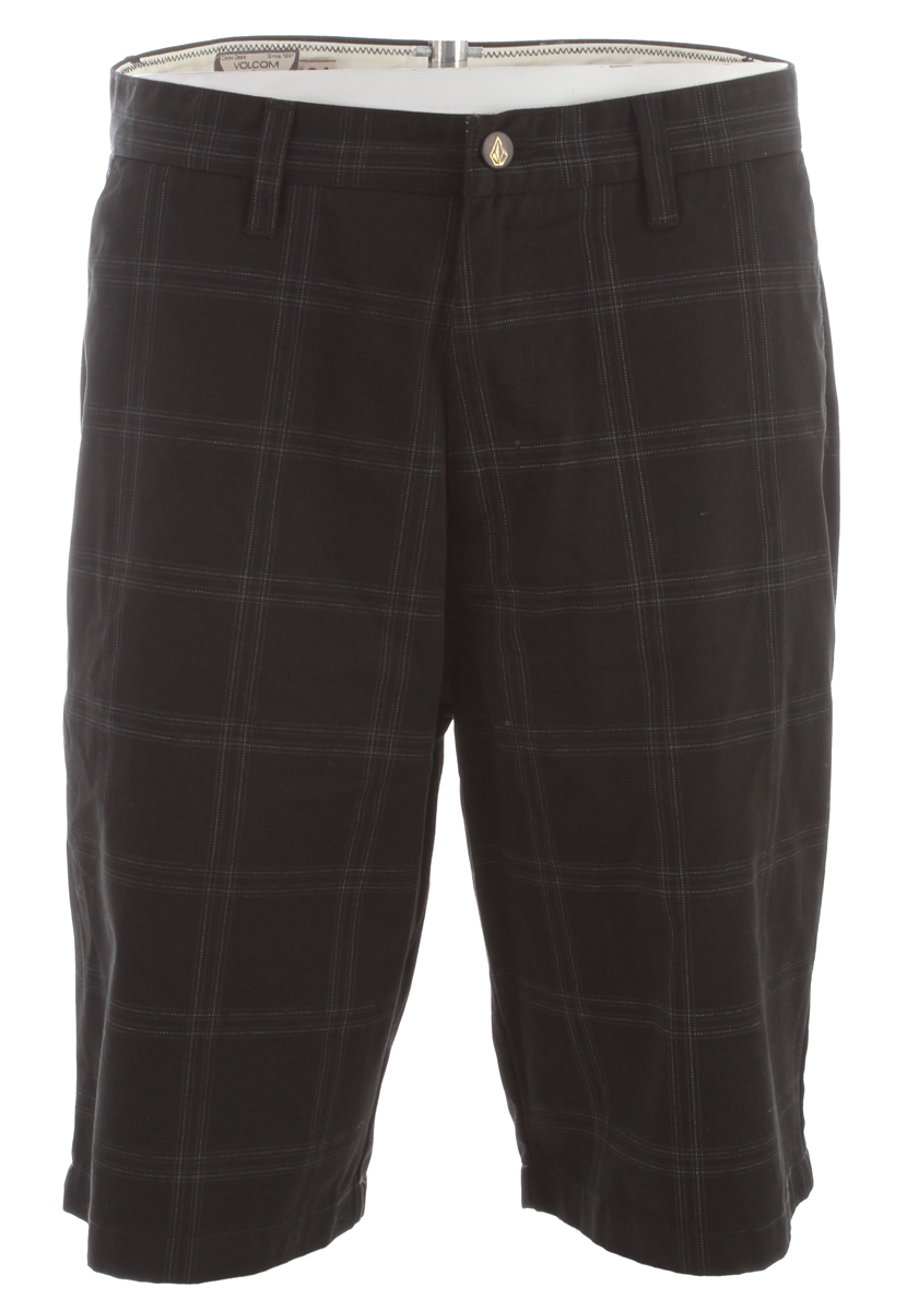 "Surf Key Features of the Volcom Frickin Plaid Shorts: 22"" Outseam Relaxed fit chino short Printed plaid Pre Laundered 65% Polyester / 35% Cotton twill - $36.95"