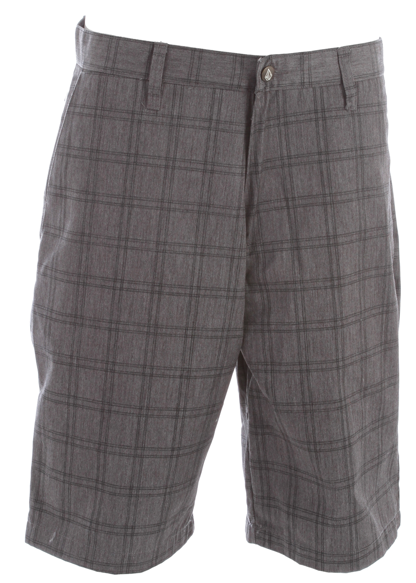 "Surf Frickin A these are the best frickin plaid shorts money can buy. All the classic elements are here, along with a 22"" outseam and relaxed fit just in case you want to throw out a quick skate sesh after school. 65% polyester / 35% cotton twill.Key Features of the Volcom Frickin Plaid Chino Shorts: 22"" Outseam Relaxed fit chino short Printed Plaid Pre-laundered 65% Polyester / 35% Cotton Twill - $33.95"