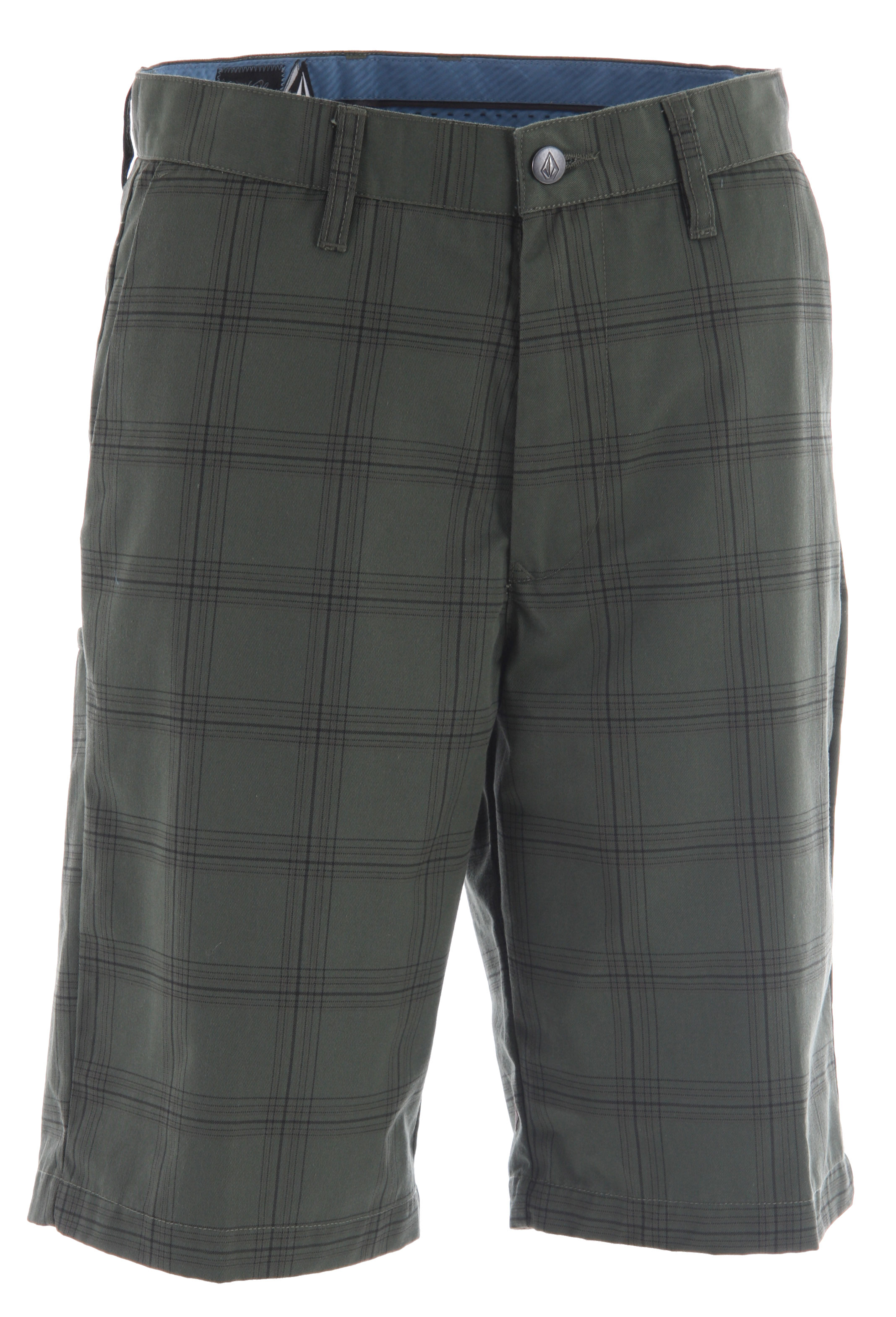 "Surf Volcom's essential skate chino gets infused with preppy plaid for an interesting mix in contradictions with the Volcom Frickin Plaid Chino Shorts. Stellar details include front slash pockets, back welt pockets, cell welt pocket at back leg, and is finished with a garment wash for added softness.Key Features of the Volcom Frickin Plaid Chino Shorts: 22"" Outseam Relaxed Fit Chino Short Garment Wash W/ Softener Corpo Class Collection 65% Polyester/35% Cotton Twill. - $28.95"