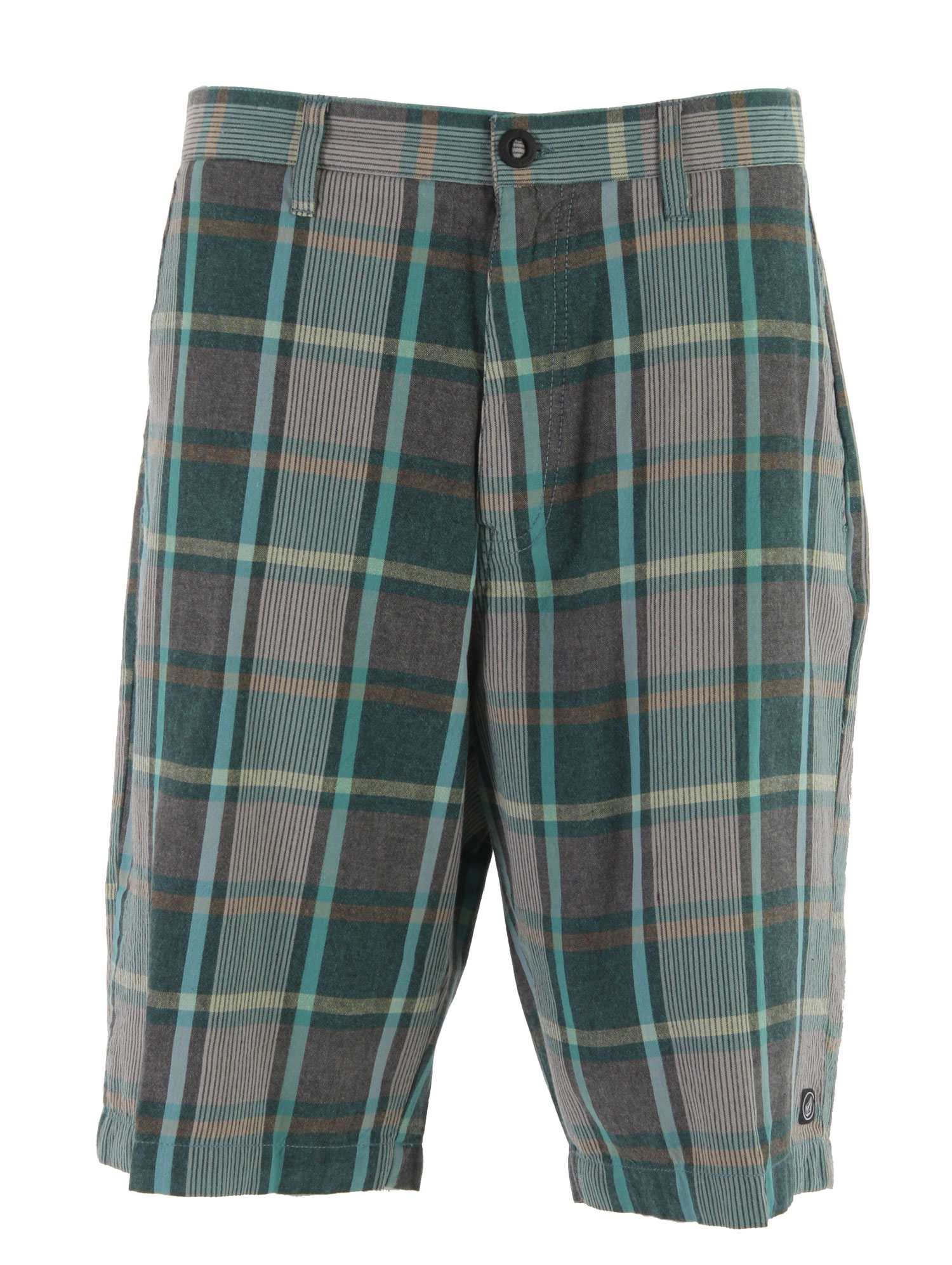 "Surf These Hallway Shorts by Volcom are 100% cotton relaxed fit shorts that have an edgy casual styling that gives them a ton of versatility. The multi-plaid chino material catches the eye in a crowd and include side buttons for a unique look. Shorts are fully machine washable with a long outseam. If you're looking for a pair of relaxed fit Hallway skate shorts to complete your set of gear, nothing matches Volcoms comfort and ability to always deliver.Key Features of the Volcom Hallway Shorts: 22"" Outseam Relaxed fit chino short Garment wash w/ softener 100% Cotton yarn dye - $30.95"