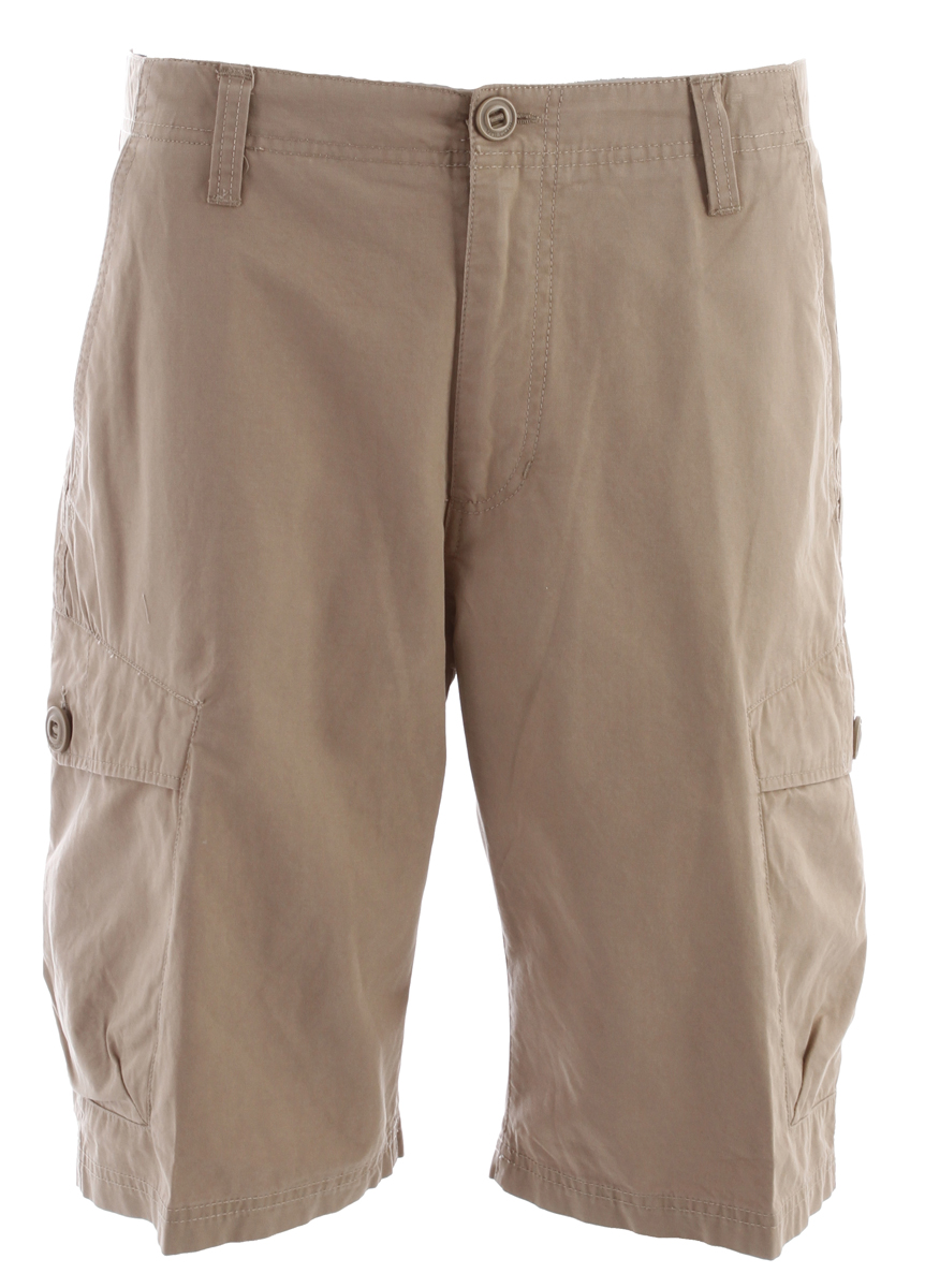 "Surf Key Features of the Volcom Racket Cargo Shorts: 22"" Outseam Relaxed fit cargo short Vintage wash 100% Cotton broken twill - $55.00"