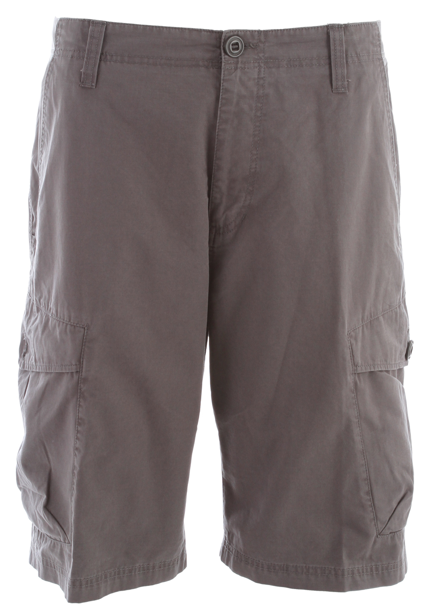 "Surf Key Features of the Volcom Racket Cargo Shorts: 22"" Outseam Relaxed fit cargo short Vintage wash 100% Cotton broken twill - $40.95"
