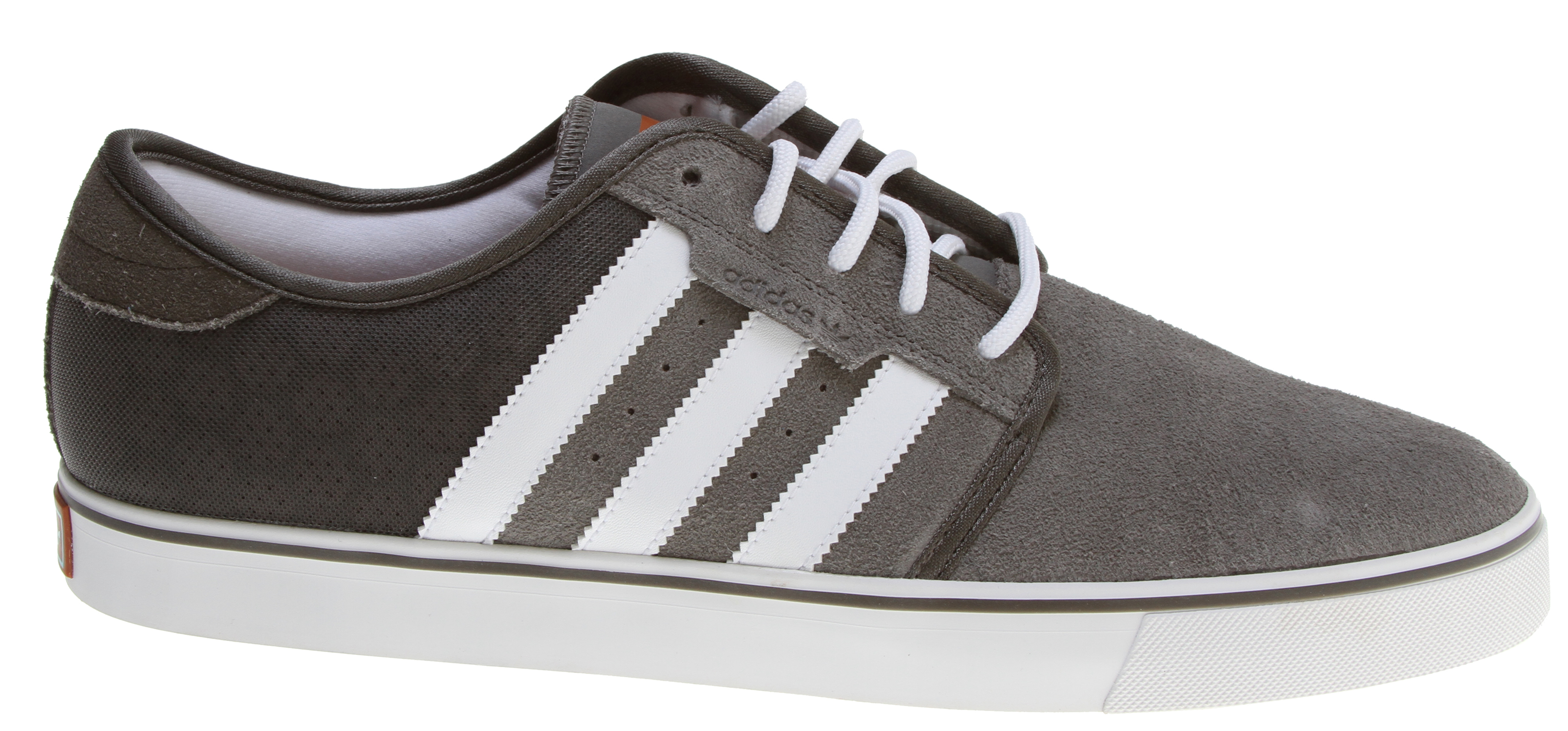 Skateboard Inspired by a now classic adidas skateboarding shoe, the adidas Seeley is a techie all-leather sneaker. It features a sued0on-synthetic-suede design on back that recalls the distinctive looks of the 1970's Tango football. - $48.95