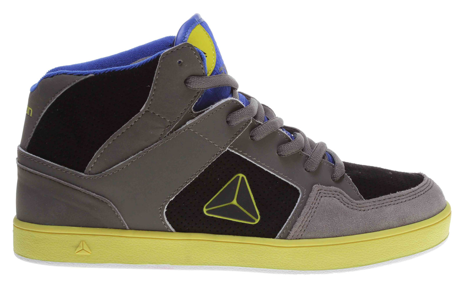 Skateboard The old school high-top flava of the Axion Atlas skate shoe features uppers of distressed action leather, action nubuck, or suede. It has a triple-stitched toecap for added durability. A padded tongue and collar are included for added comfort and support. The fabric lining helps wick away moisture. A super-cush footbed is added for long-lasting comfort. Finally the durable rubber outsole is there for added traction and long use-time. Time for sum AXION! - $57.95