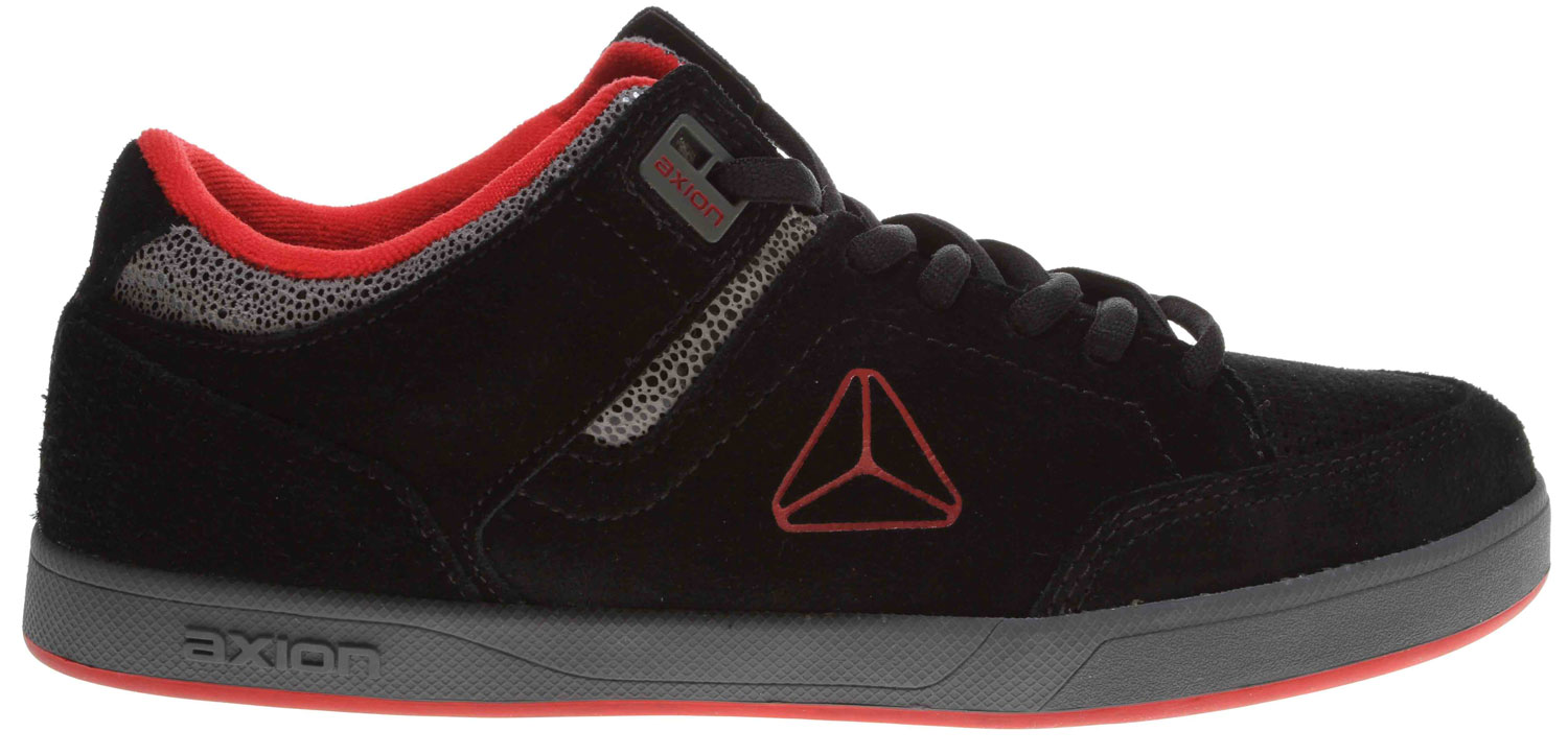 Skateboard The Axion Mandela skate shoe has been re-birthed to set the standards in skateboarding footwear. A rigid but low-profile sole, durable upper, and indelible style make the Mandela a classic shoe ideal for skating or just looking damn good. Time for sum AXION! - $41.95
