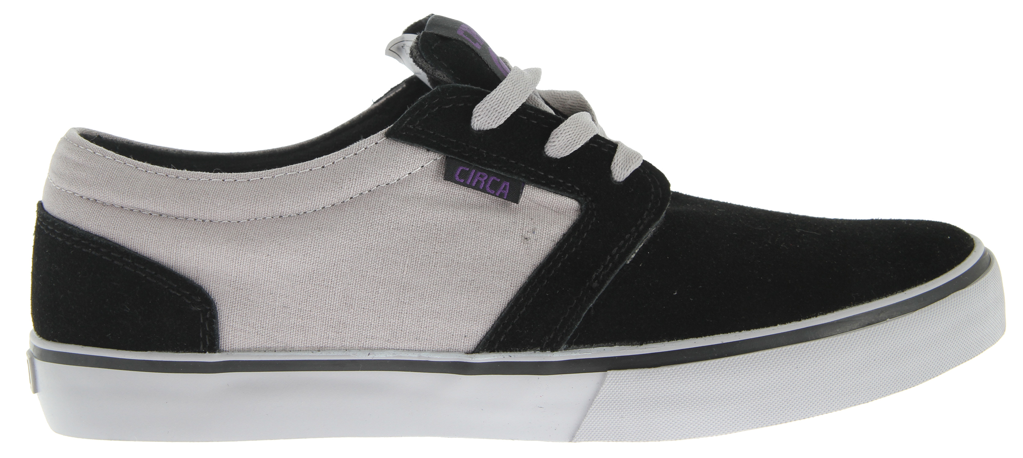 Skateboard The new Circa Hesh skate shoe, a joint venture from Circa and legendary skateboard brand GS. Constructed with a reinforced canvas upper and wide lacing to ensure that perfect fit and extended durability. Now featuring FusionGrip, a super soft and sticky rubber, to give you that flexible great board feeling that every rider wants. Also, thanks to the insole and thick padding spread throughout the shoe, you get even more added support and shock absorbency.Key Features of the Circa Hesh Skate Shoes: Low Profile Fit And Look Genuine Vulcanized Construction Fusiongrip Outsole Rubber For Ultimate Grip C1Rca Herringbone Outsole Provides Improved Board Control - $42.95