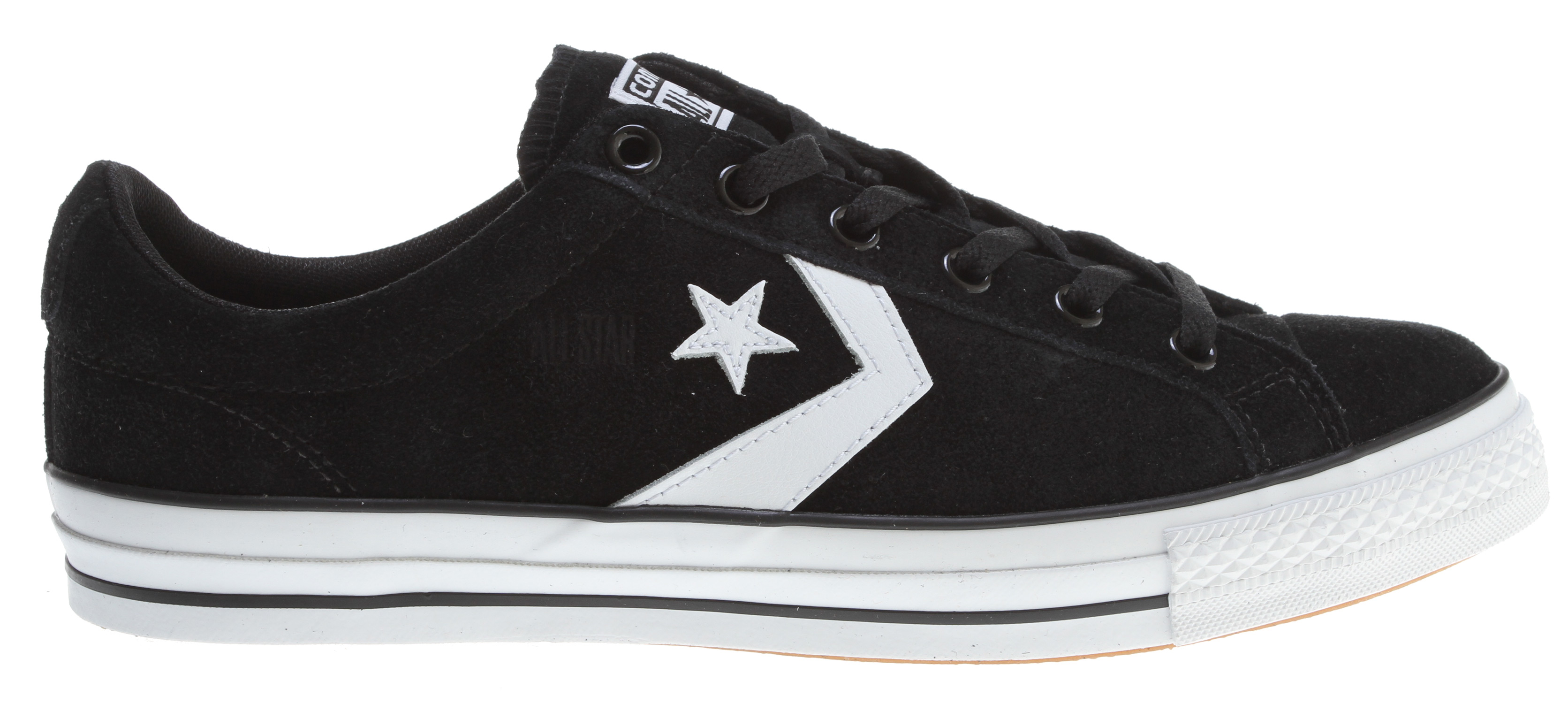 Skateboard Key Features of the Converse Star Player LS OX Skate Shoes: Suede and/or Canvas upper Padded collar for superior comfort Metal eyelets Rubber capped toe Super grippy vulcanized outsole - $48.95