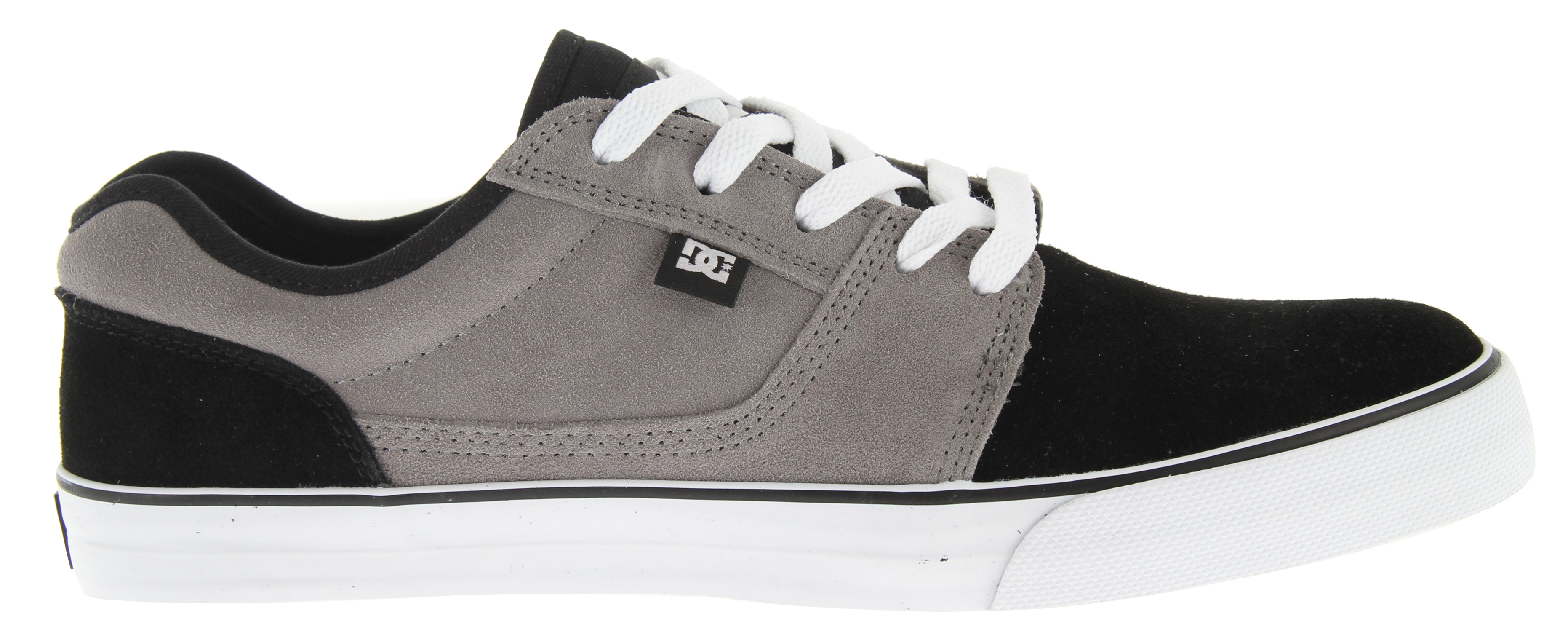 "Skateboard Key Features of the DC Bristol Skate Shoes: Classic Skateboarding style Canvas upper for comfort Vulcanized construction DC ""Pill Pattern"" sole for functionality Super sticky outsole DC logo tab and tongue Foam padded tongue and collar - $35.95"