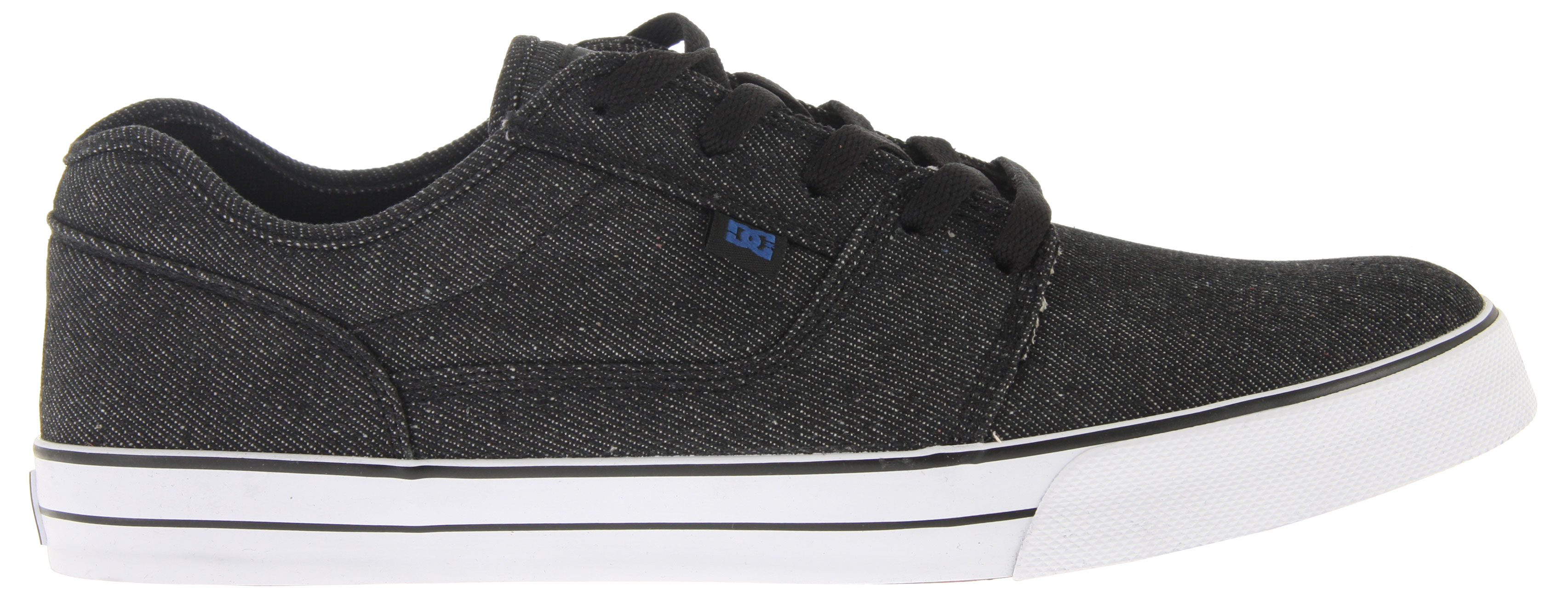 "Skateboard Key Features of the DC Bristol TX Skate Shoes: Classic Skateboarding style Canvas upper for comfort Vulcanized construction DC ""Pill Pattern"" sole for functionality Super sticky outsole DC logo tab and tongue Foam padded tongue and collar - $35.95"
