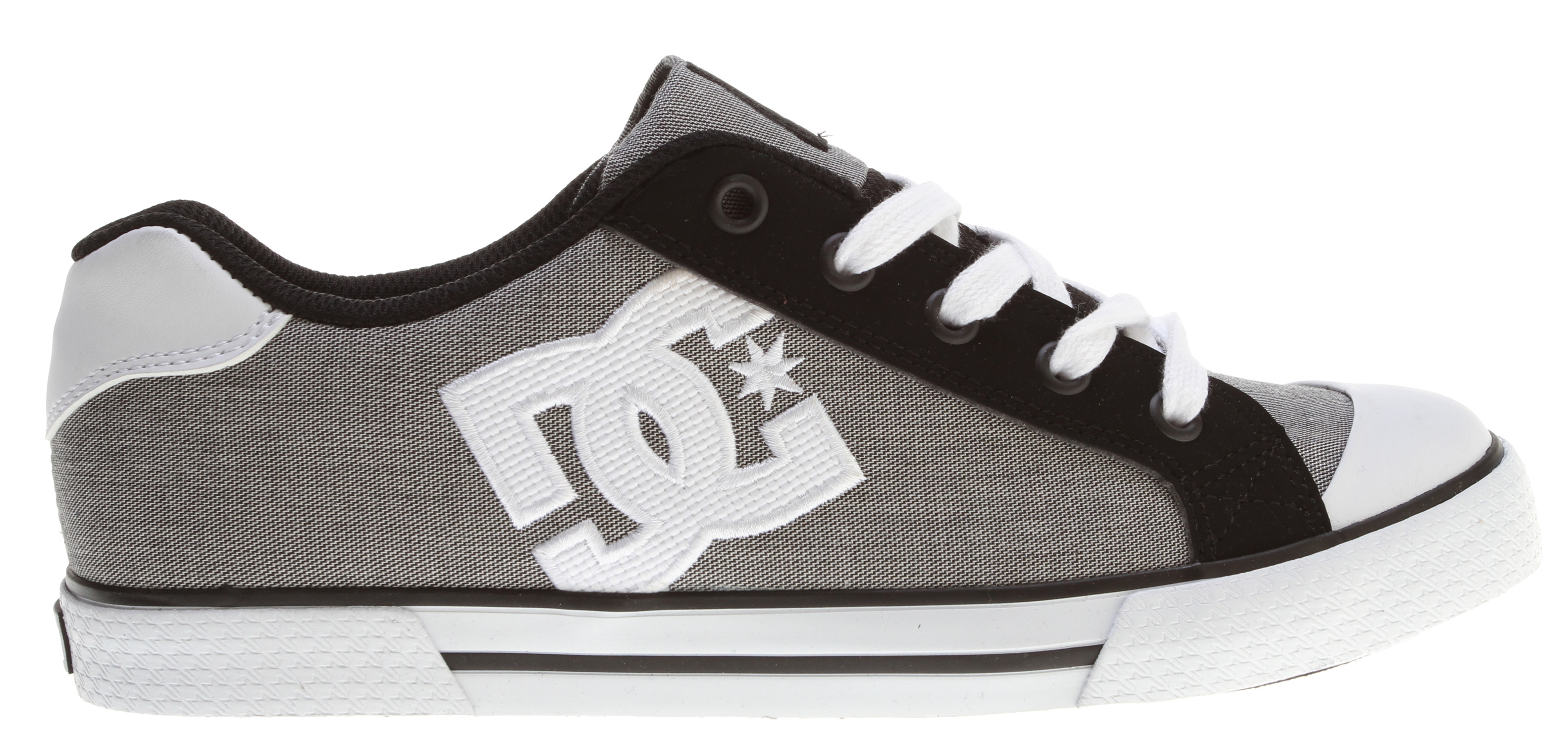 "Skateboard Key Features of the DC Chelsea Skate Shoes: Textile And Suede Or Action Leather Upper-Vent Holes For Ventilation Metal Eyelets Vulcanized Construction DC's Trademarked ""Pill Pattern"" Bottom. - $38.95"