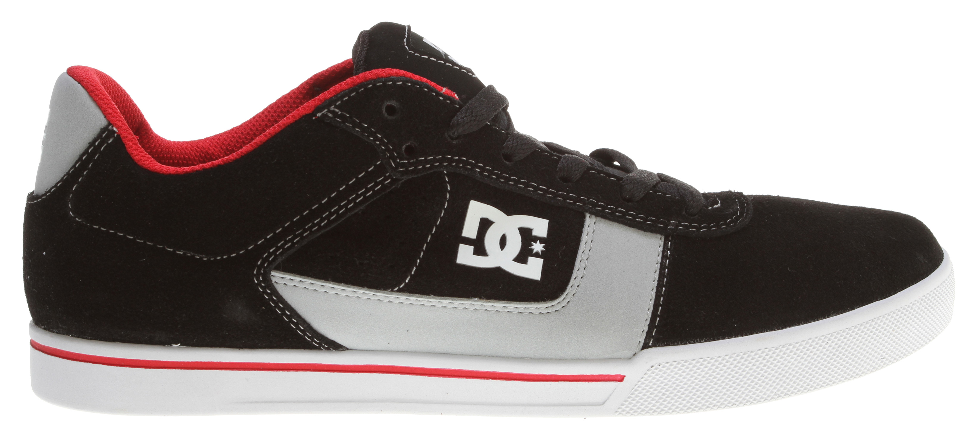 "Skateboard Designed by Chris ColeKey Features of the DC Cole Pro Skate Shoes: Designed By Chris Cole Classic Skate Style Suede Upper For Durabilty Canvas And Vent Holes For Breathability Foam Padded Tongue And Collar For Comfort And Support Vulcanized Construction Abrasion-Resistant Sticky Rubber Outsole DC's Trademarked ""Pill Pattern"" Bottom. - $45.95"