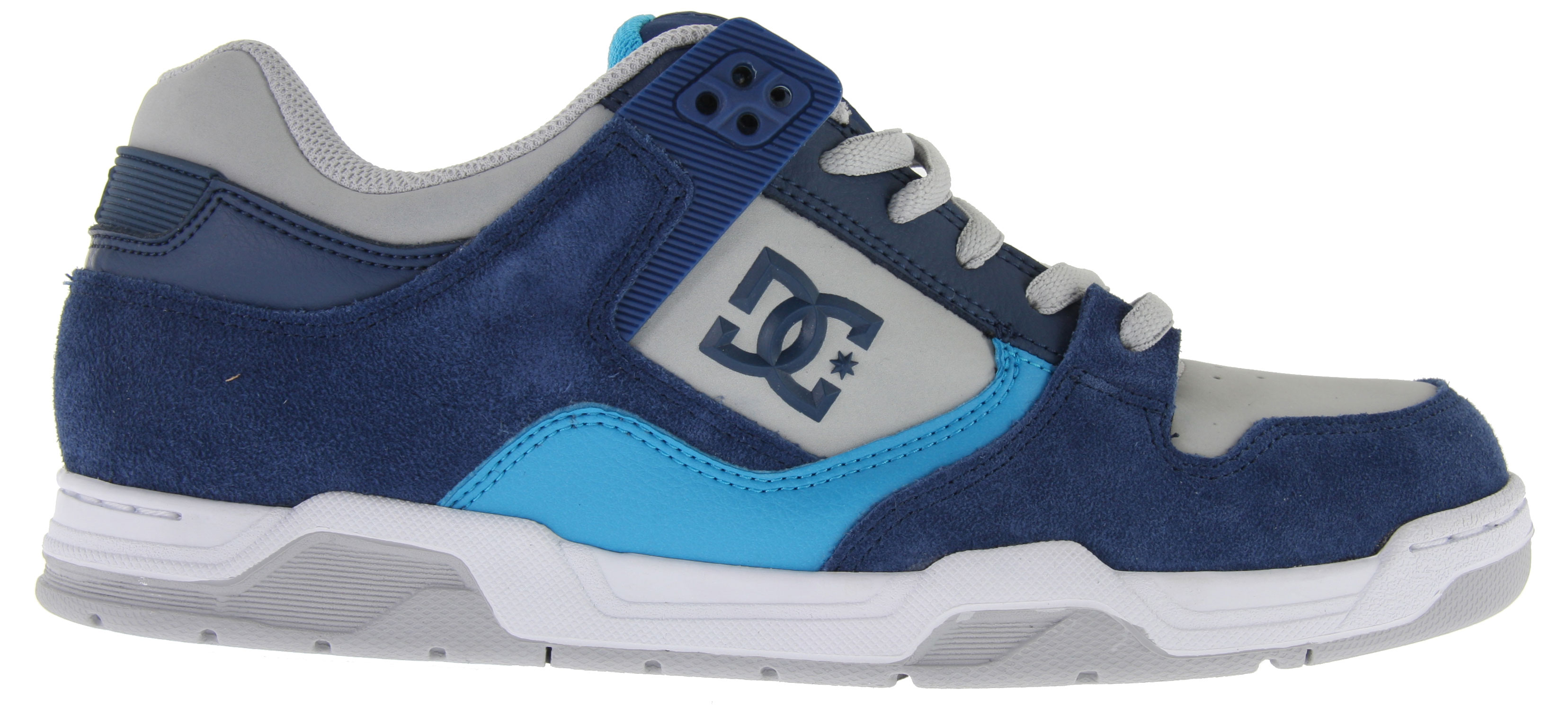 "Skateboard Key Features of the DC Flawless Skate Shoes: Heavy-Duty Suede Upper Perforated Upper Panel TPU Eyelets Foam-Padded Tongue and Collar for added Comfort & Support Lightweight Mesh Tongue Spandex Tongue Holders for Comfort DC's Performance Wrap Cup Sole Abrasion-Resistant Sticky Rubber Outsole with DC's Trademarked ""Pill"" Pattern - $59.95"