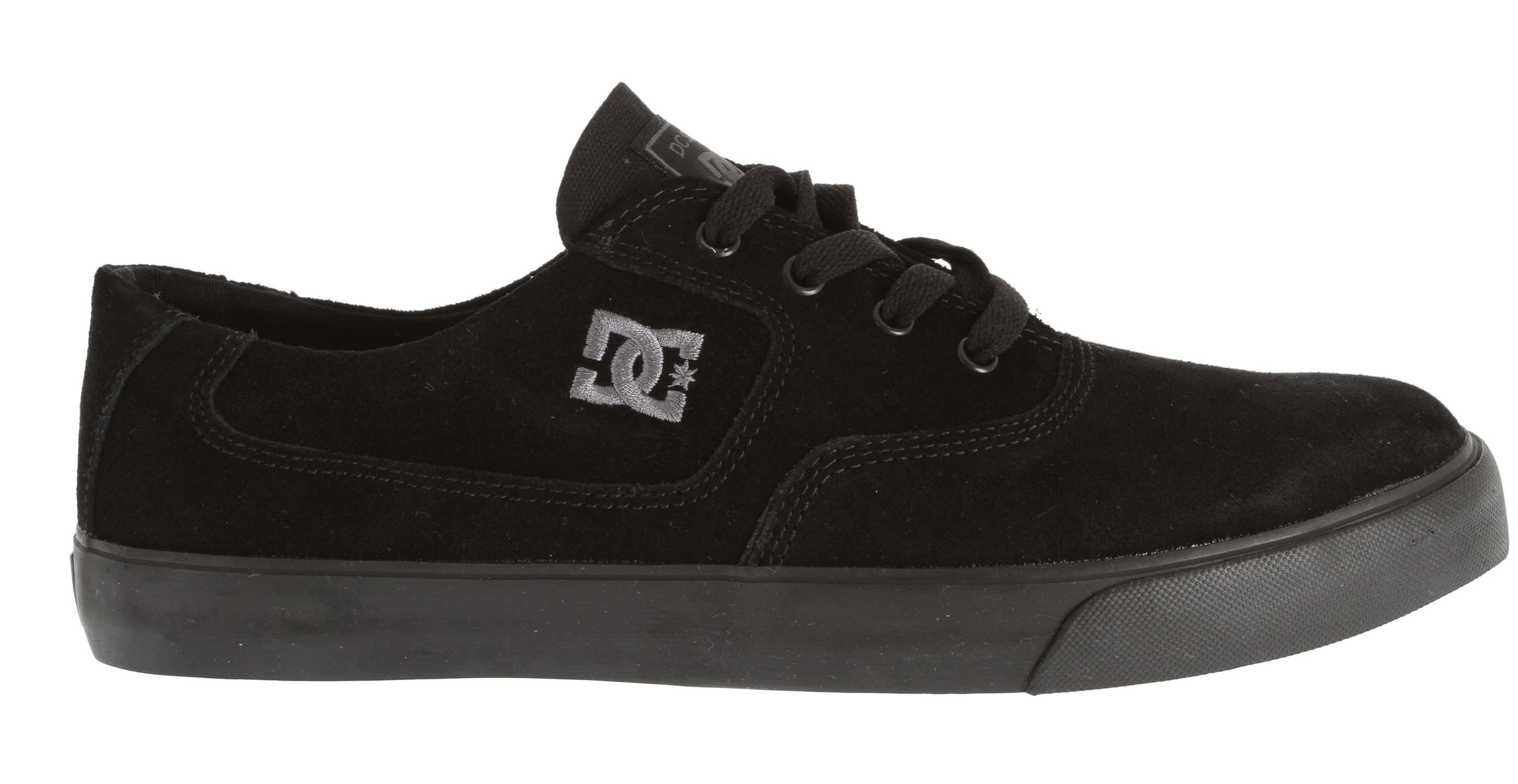 "Skateboard Key Features of the DC Flash Skate Shoes: Canvas upper Abrasion-Resistant Sticky Rubber Outsole DC's Trademarked ""Pill"" Pattern Embroidered DC logo Does not come in a box - $31.95"
