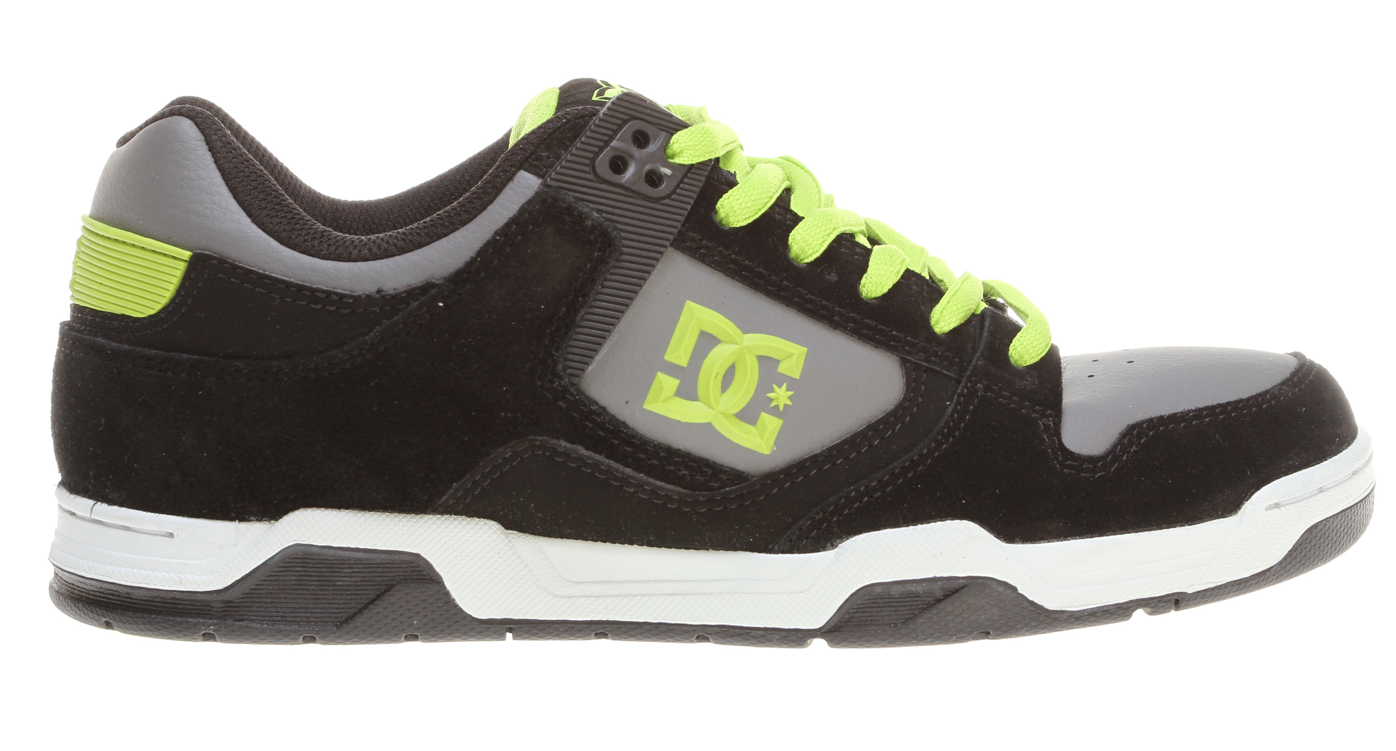 "Skateboard Key Features of the DC Flawless Skate Shoes: Heavy-Duty Suede Upper Perforated Upper Panel TPU Eyelets Foam-Padded Tongue and Collar for added Comfort & Support Lightweight Mesh Tongue Spandex Tongue Holders for Comfort DC's Performance Wrap Cup Sole Abrasion-Resistant Sticky Rubber Outsole with DC's Trademarked ""Pill"" Pattern - $48.95"