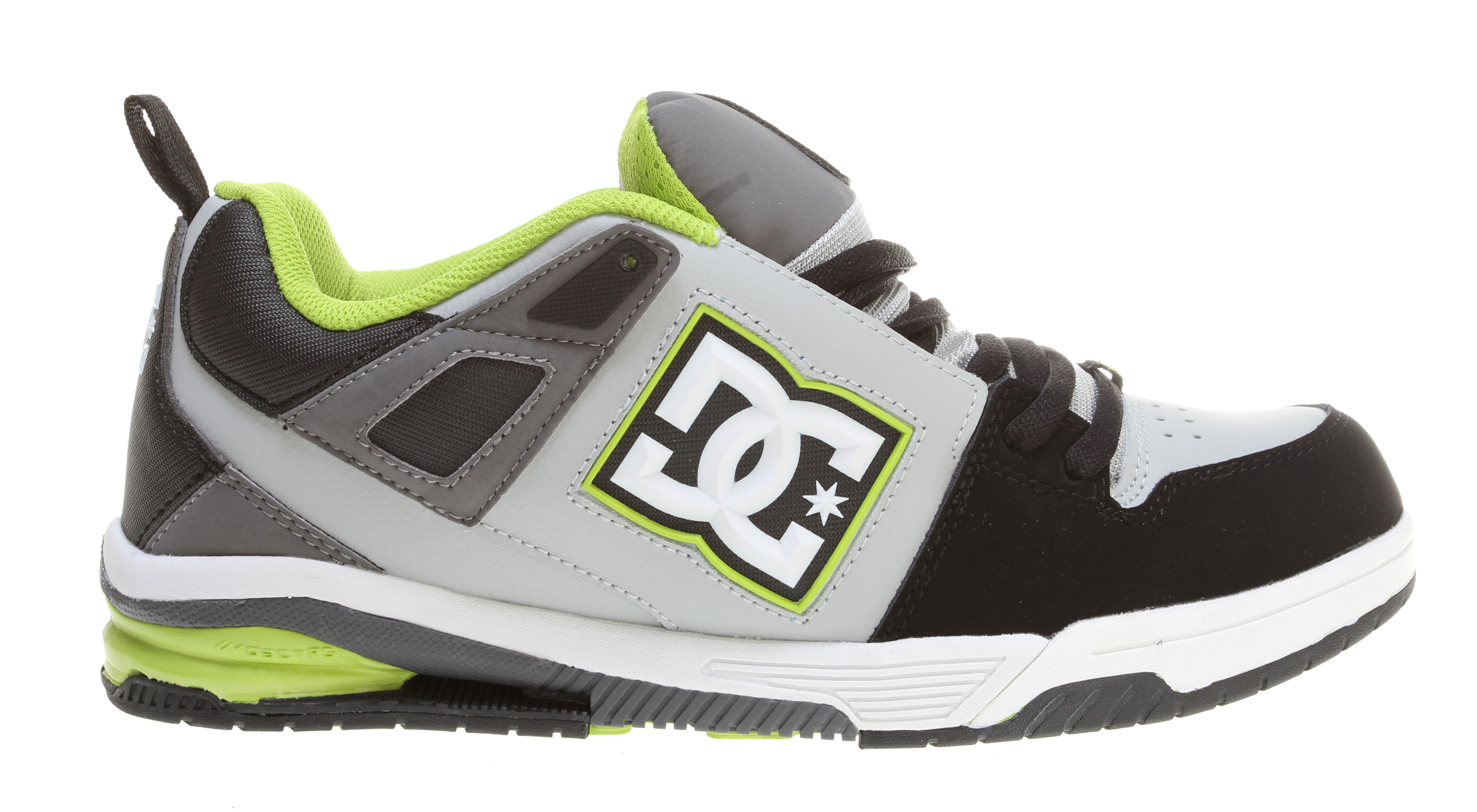 Skateboard Key Features of the DC Impact RS Skate Shoes: Composed of strategically placed columns for cushioning and rebound molded shank plate, and features Unilite for lightweight performance Dual Molded quarter logo piece Lightweight mesh tongue bottom Engineered Pill pattern in outsole for grip and control - $57.95