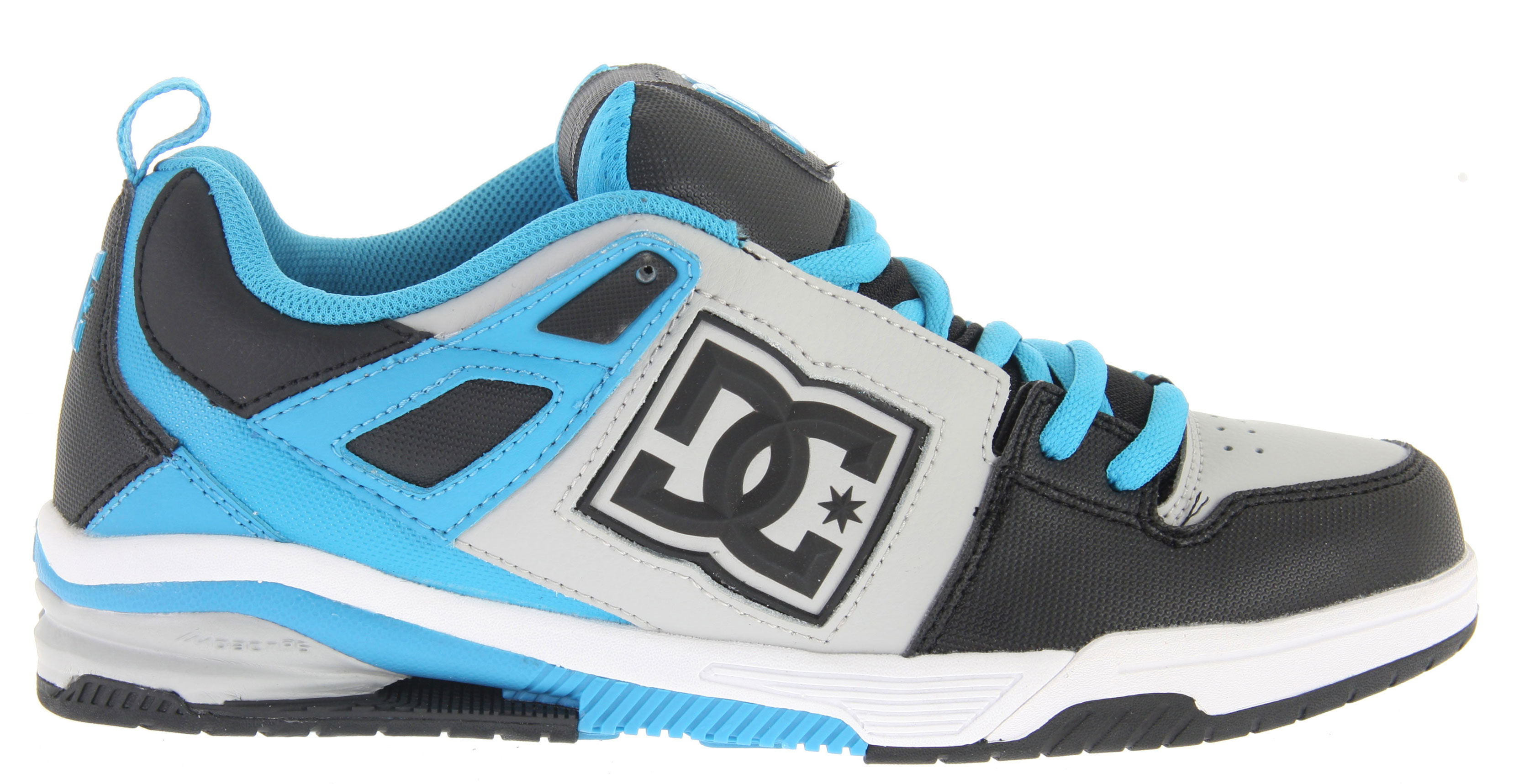 Skateboard Key Features of the DC Impact RS Skate Shoes: Composed of strategically placed columns for cushioning and rebound molded shank plate, and features Unilite for lightweight performance Dual Molded quarter logo piece Lightweight mesh tongue bottom Engineered Pill pattern in outsole for grip and control - $53.95