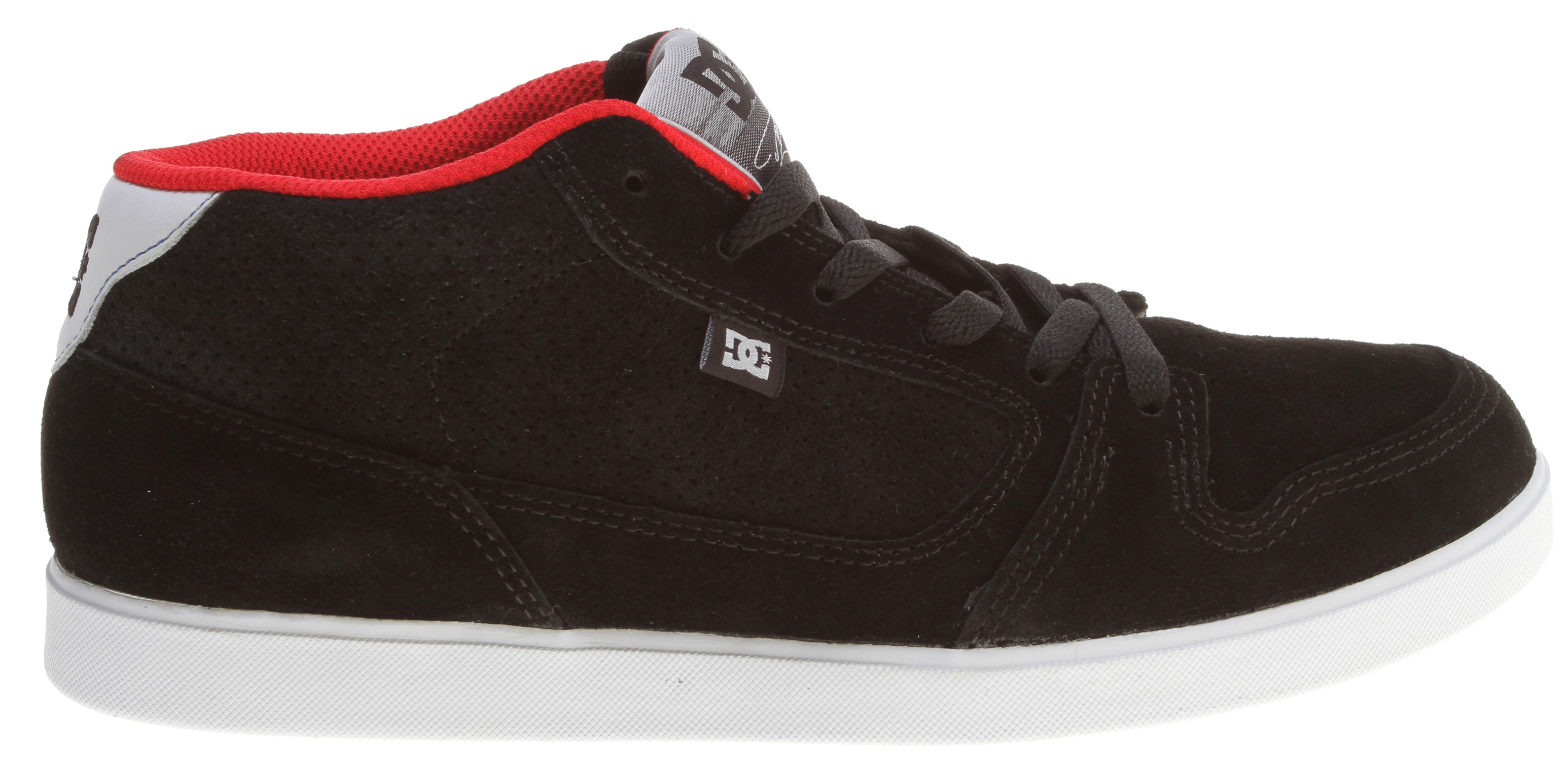 Skateboard What's better than a sharp looking pair of skate shoes  A pair of sharp looking DC Landau Mid S Skate Shoes, of course. That's because they offer a heavy-duty suede upper with vent holes for maximum breathability, DC's own performance cup sole, a padded tongue and mid collar for top-notch comfort and support, along with a grippy herringbone tread pattern to ensure you always keep your footing.   Color Way by Danny Way    Features Traditional Skate Lines with Vulc Board Feel and Cup Sole Protection   Super Suede    Heavy Duty Suede Upper    Vent Holes in Upper for Increased Airflow   Foam Padded Tongue and Mid Top Collar for Added Comfort and Ankle Support   DC's Performance Cup Sole   Skate Performance Insole   Abrasion-Resistant Sticky Rubber Outsole    Classic Herringbone Tread Pattern - $38.95