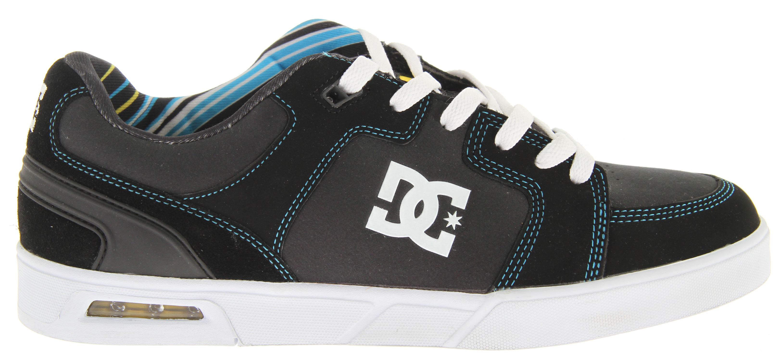 Skateboard Key Features of the DC Monty Na Skate Shoes: Clean cupsole construction with visible heel airbag Traditional skate paneling in the upper Foam padded tongue and collar for added comfort Molded heel counter for support and style - $48.95