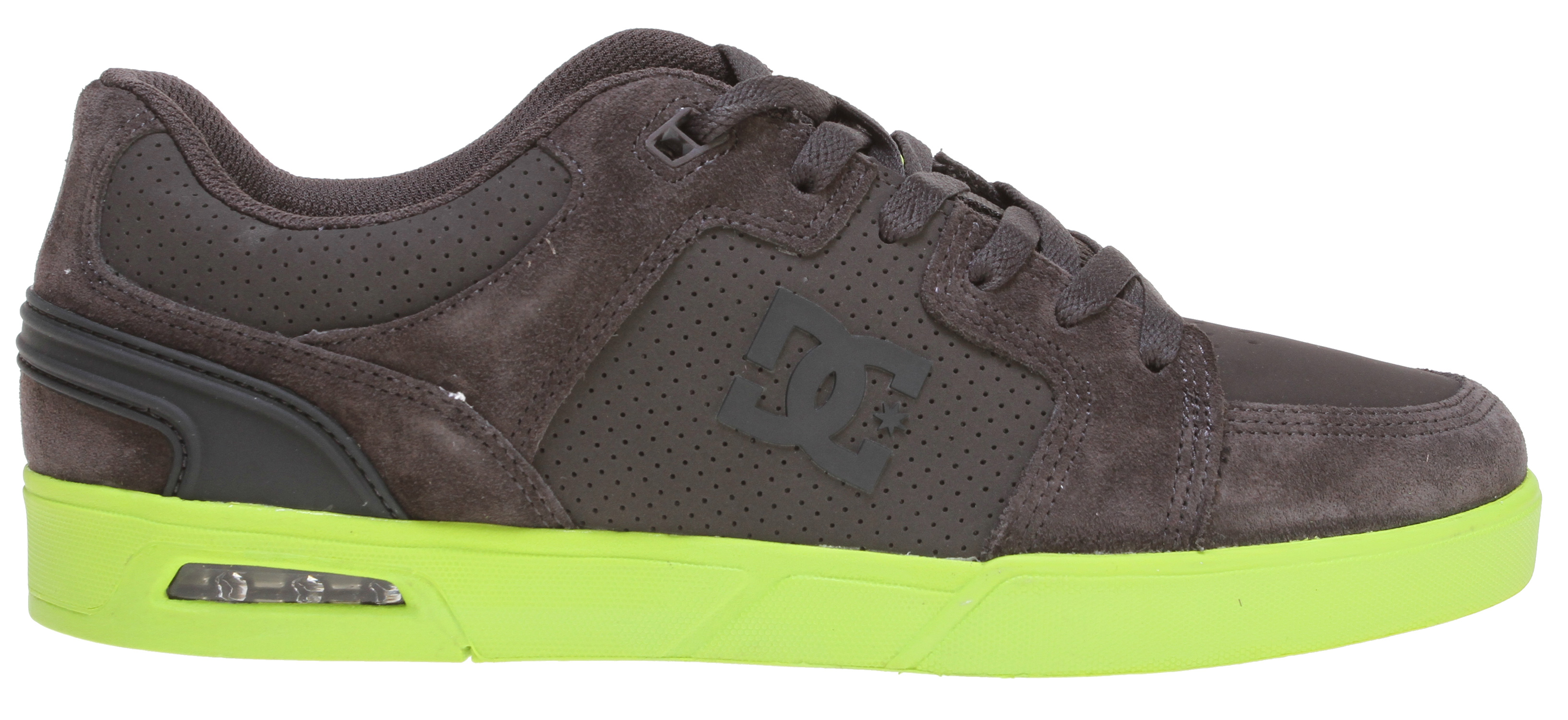 Skateboard Key Features of the DC Monty Skate Shoes: Clean cupsole construction with visible heel airbag Traditional skate paneling in the upper Foam padded tongue and collar for added comfort Molded heel counter for support and style - $44.95