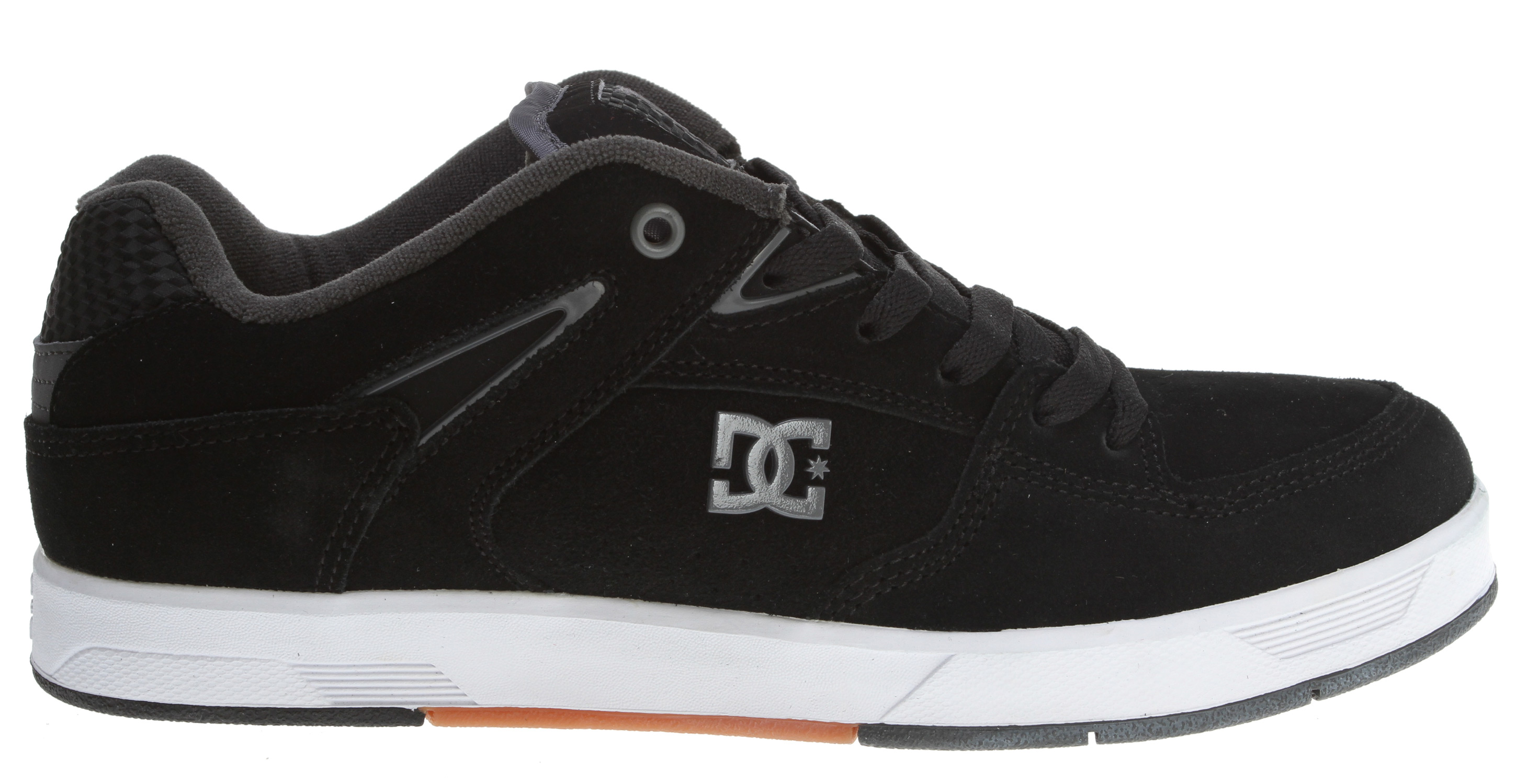 Skateboard Key Features of the DC ND1 S Skate Shoes: Super Suede Soft resilient action leather Vent holes in upper for airflow Padded tongue and collar Skate performance insole Heel impact protection gel DGT 123 - $35.96