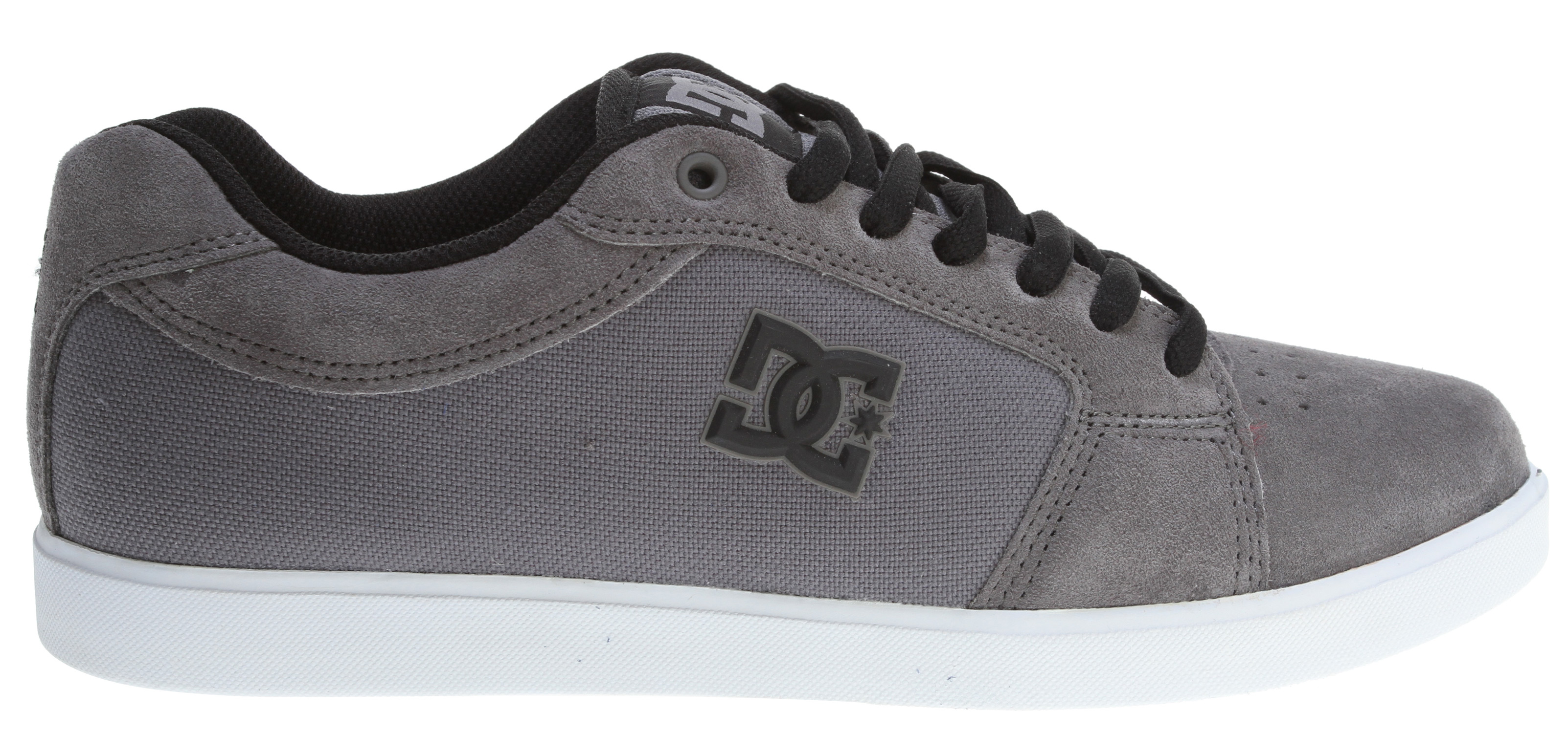 Skateboard Key Features of the DC Phaser Skate Shoes: Foam padded tongue and collar for added comfort and support vent holes in upper for increased air flow DC performance cupsole Abrasion resistant sticky rubber outsole with classic herringbone tread - $35.95