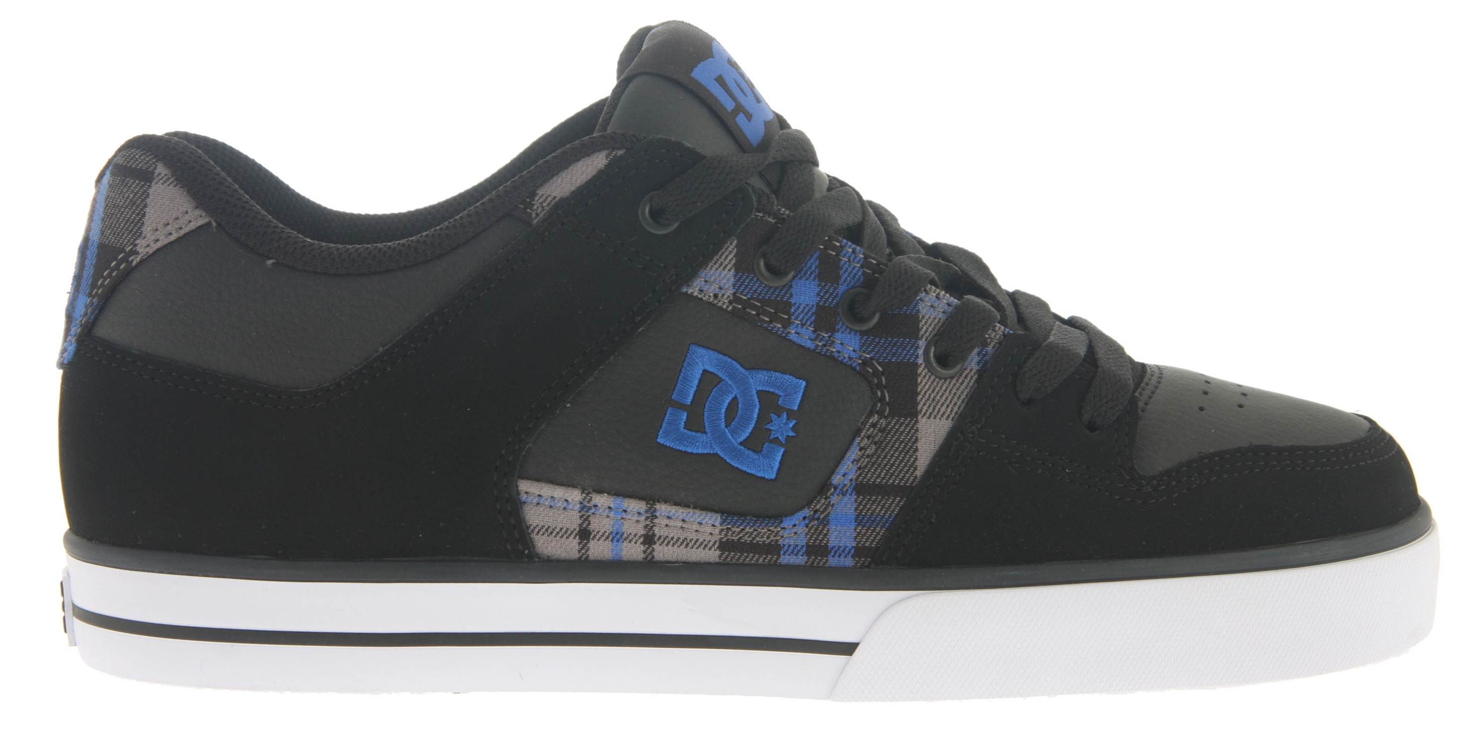 Skateboard Key Features of the DC Pure XE Skate Shoes: Heavy duty suede upper Soft resilient action leather Eyelets on medial side Metal eyelets and lace locks Foam padded tongue and collar Innovative DGT rubber bottom design for enhanced board control, feel, and durability Rubber toe wrap - $64.95