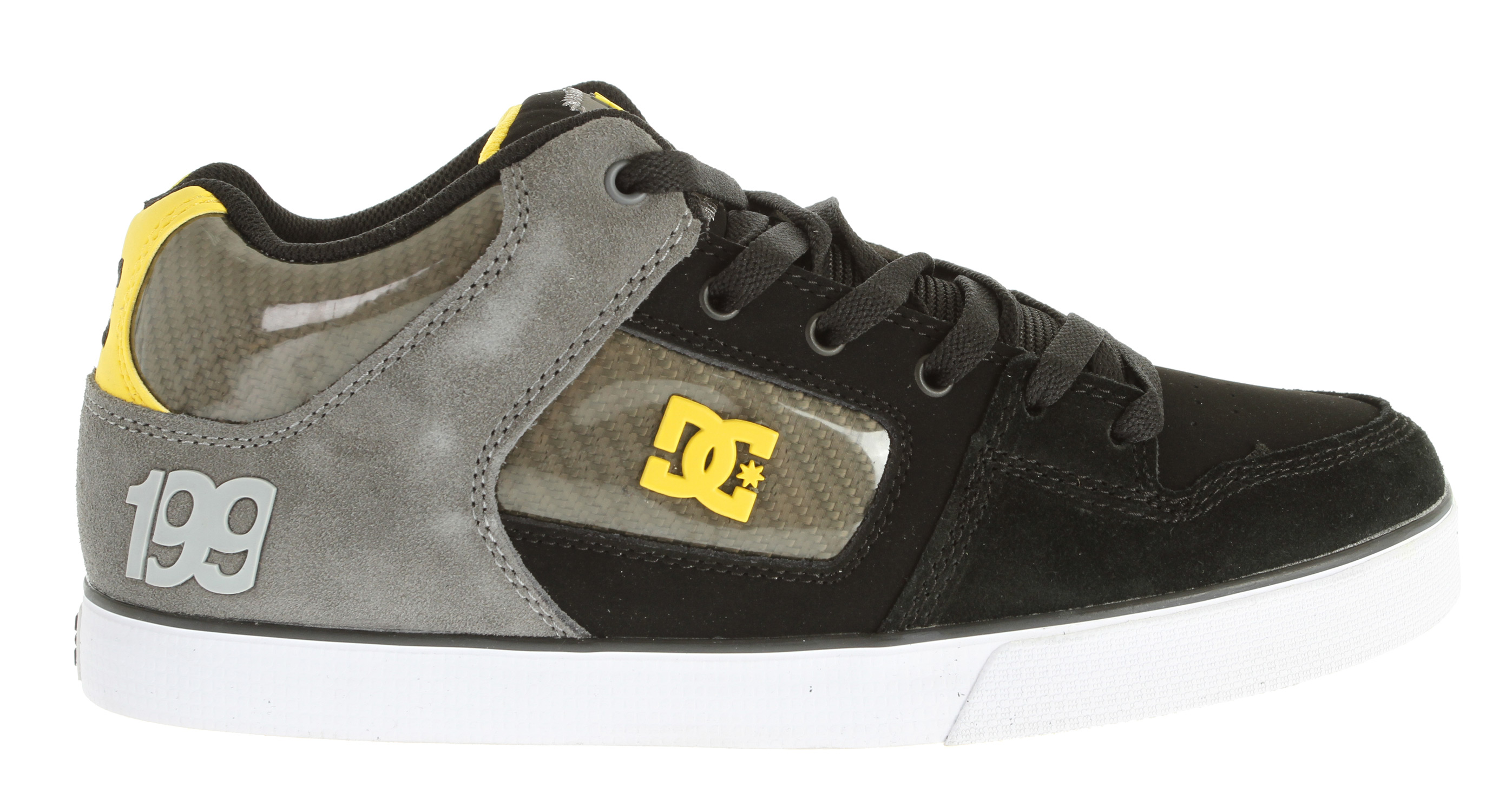 "Skateboard Key Features of the DC Radar Slim TP Skate Shoes: Features carbon fiber detailsSignature molded logos Foam padded tongue and collar for added comfort and support vent holes in upper for increased air flow Metal Eyelets DC Performance Cupsole Abrasion resistant sticky rubber outsole with DC's Trademarked ""Pill Pattern"" bottom - $44.95"