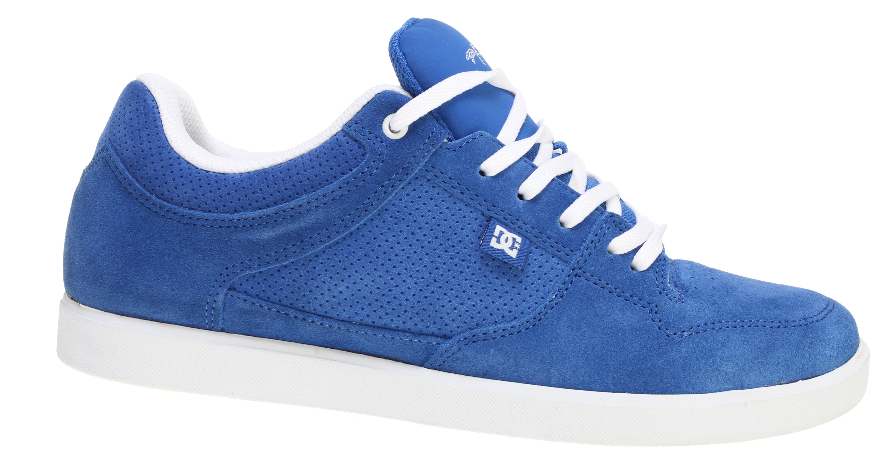Skateboard Key Features of the DC Royal Low Skate Shoes: Heavy-duty suede upper Soft resilient action leather or action nubuck upper Perforated upper panel Metal eyelets and lace locks Foam-padded tongue and collar * Lightweight mesh tongue Spandex tongue holder Innovative DGT rubber bottom design for enhanced board control feel & durability Rubber toe wrap - $41.95