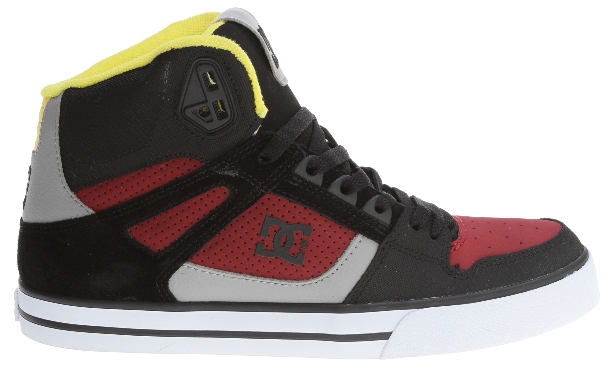 "Skateboard Hi tops aren't for everyone, it either makes your day or gets in your way. But consider a lightweight shoe, foam padded tongue and collar for comfort, and a wrap cup sole for extra protection. Throw in a sweet style and high tops might just be the way. Follow the Spartan rabbit.Key Features of the DC Spartan HI WC Skate Shoes: Foam Padded Tongue And Collar For Added Comfort And Support Vent Holes In Upper For Breathability TPU Eyelets Performance Rubber Wrap Cup Sole, Our Exclusive Construction Technique Abrasion-Resistant Sticky Rubber Outsole With DC's Trademarked ""Pill Pattern"" Bottom. - $47.95"