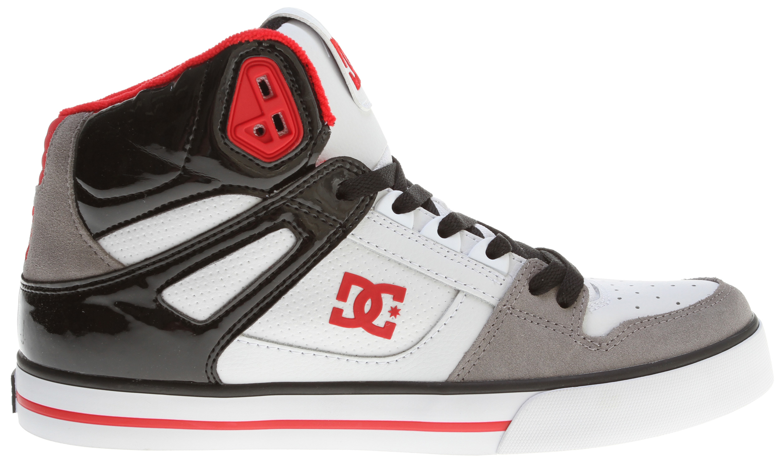 "Skateboard Hi tops aren't for everyone, it either makes your day or gets in your way. But consider a lightweight shoe, foam padded tongue and collar for comfort, and a wrap cup sole for extra protection. Throw in a sweet style and high tops might just be the way. Follow the Spartan rabbit.Key Features of the DC Spartan HI WC Skate Shoes: Foam Padded Tongue And Collar For Added Comfort And Support Vent Holes In Upper For Breathability TPU Eyelets Performance Rubber Wrap Cup Sole, Our Exclusive Construction Technique Abrasion-Resistant Sticky Rubber Outsole With DC's Trademarked ""Pill Pattern"" Bottom. - $44.76"