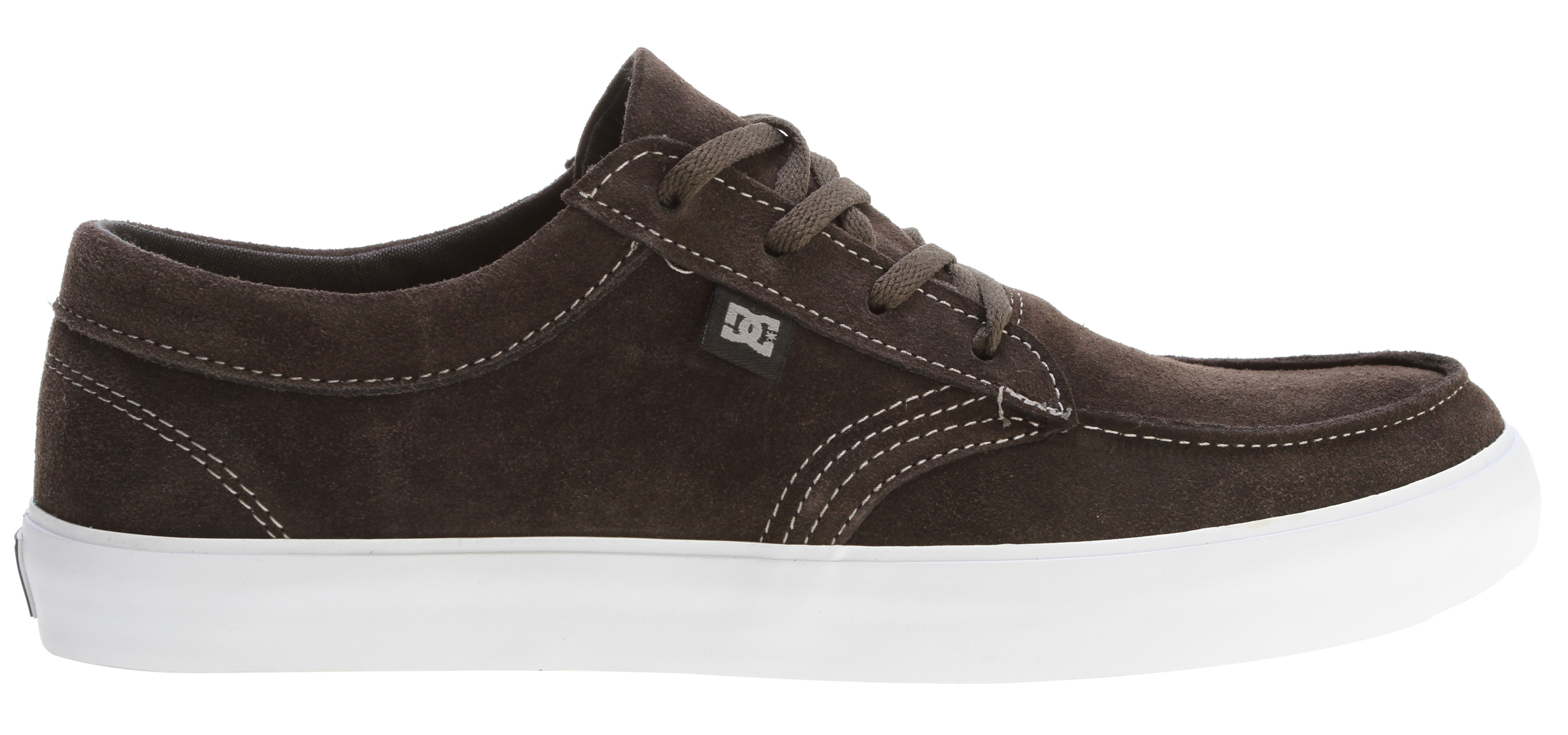"Skateboard Key Features of the DC Standard Skate Shoes: Mock toe lace up Premium suede upper Soft canvas lining Abrasion-resistant sticky rubber outsole with DC's trademarked ""Pill Pattern"" bottom - $41.95"