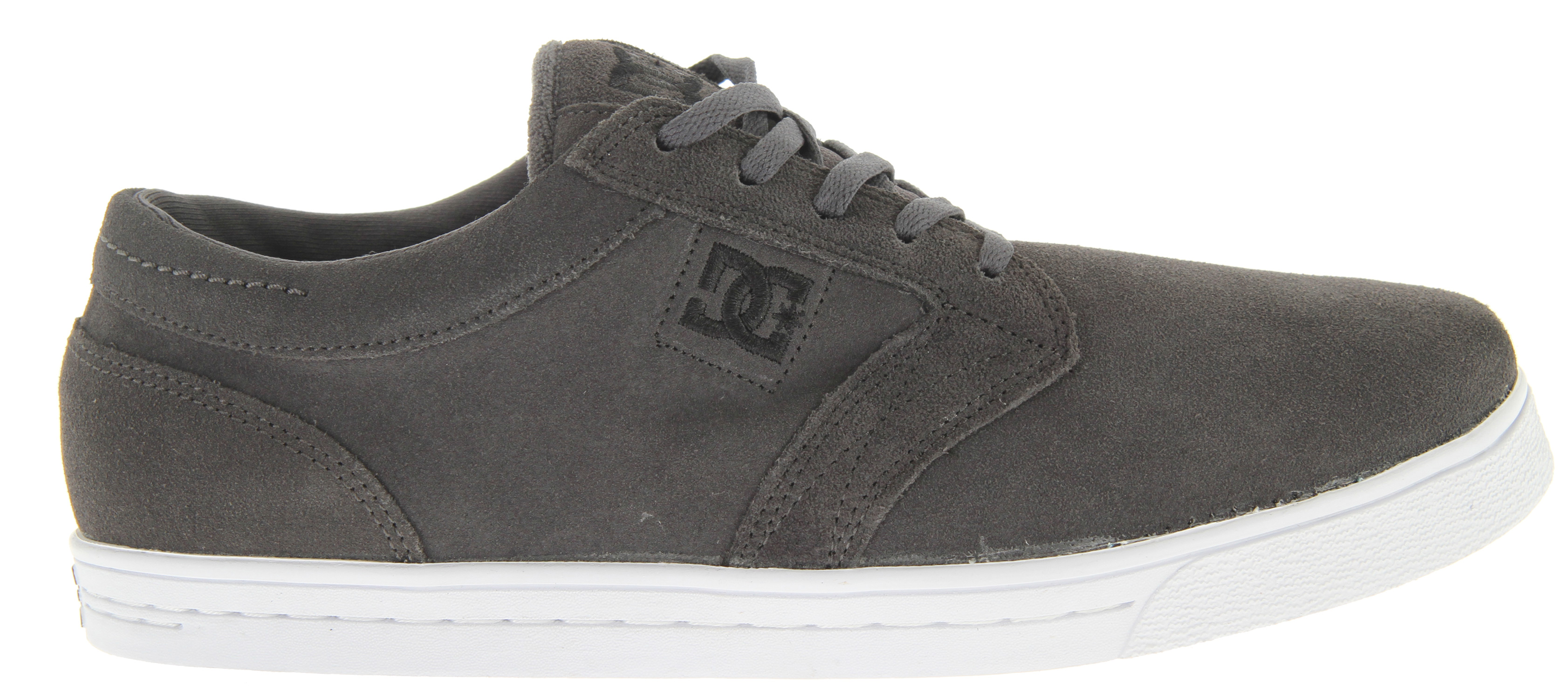 "Skateboard Key Features of the DC Trust Skate Shoes: Silky Suede Upper Foam-Padded Tongue and Collar for added Comfort & Support DC's Performance Cup Sole Construction Abrasion-Resistant Sticky Rubber Outsole with DC's Trademarked ""Pill"" Pattern HEAVY DUTY CANVAS ON UPPER PANEL Extra sandwich mesh tongue with ventilated foam - $41.95"