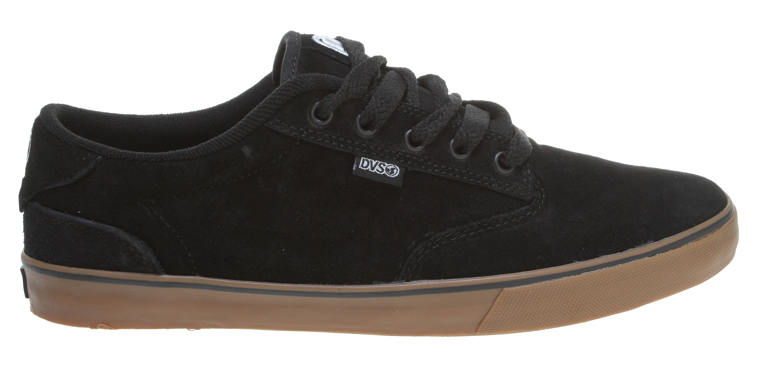Skateboard Key Features of the DVS Daewon 12'er Skate Shoes: Non slip vulcanized outsole Custom double sided flag label Hidden double sided flag label under heel tab Highly flexible lasting board Bruise Control Technology - $35.95