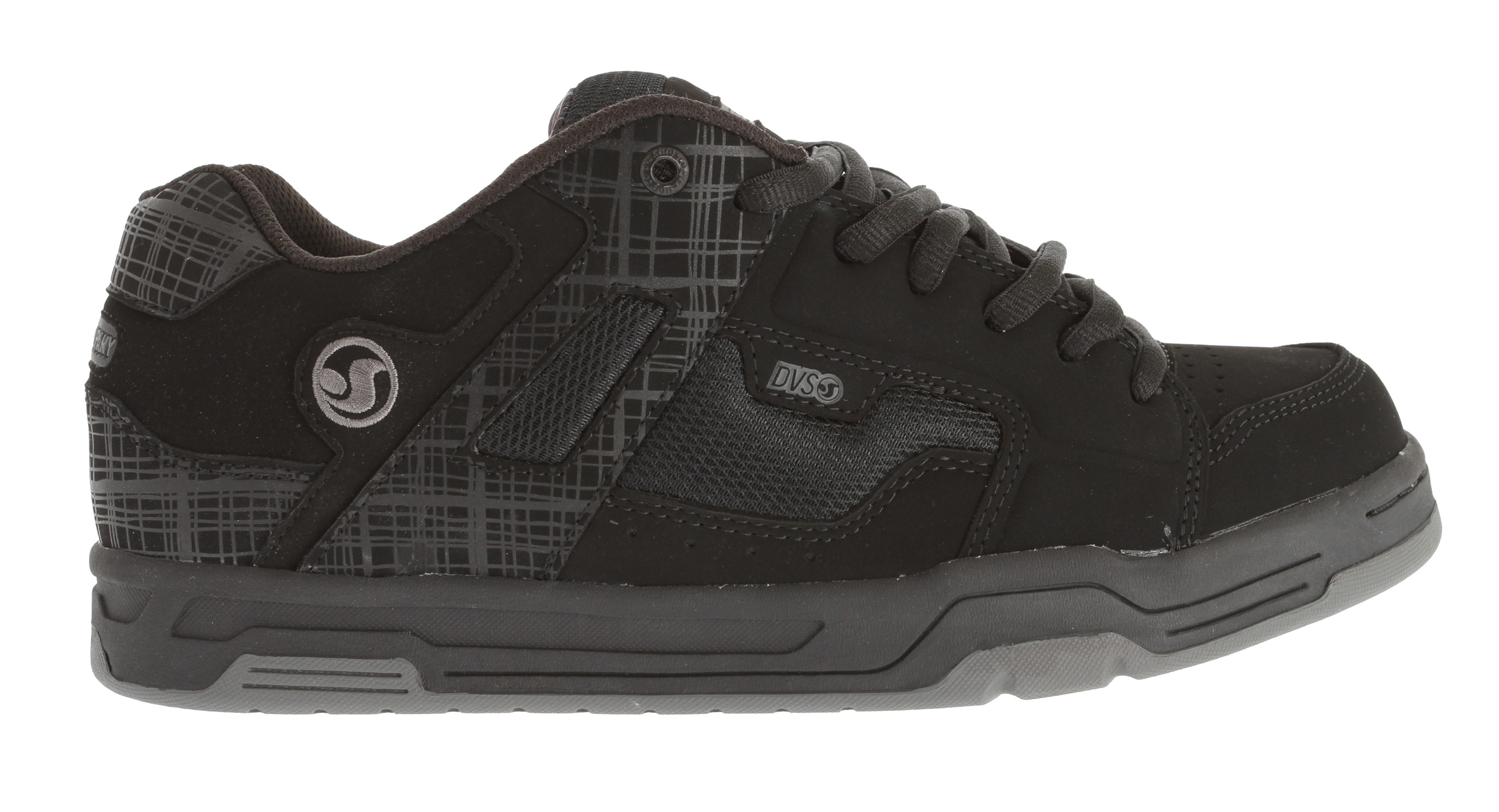 Skateboard Key Features of the DVS Enduro Skate Shoes: Wrap Around 180 Degree Airbag Custom DVS Metal Badges TPR Logos Silicone Backed Embossments Double Stitched Paneling - $75.95
