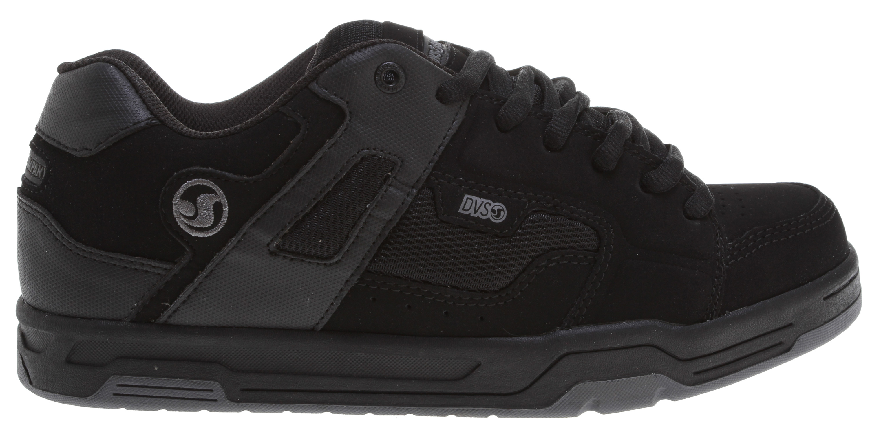 Skateboard Key Features of the DVS Enduro Skate Shoes: Triple stitch construction Open cell breathable mesh Highly flexible lasting board Lightweight flexible Perforated foam for heat reduction Non-slip outsole Contoured heel-cup sock liner - $52.95