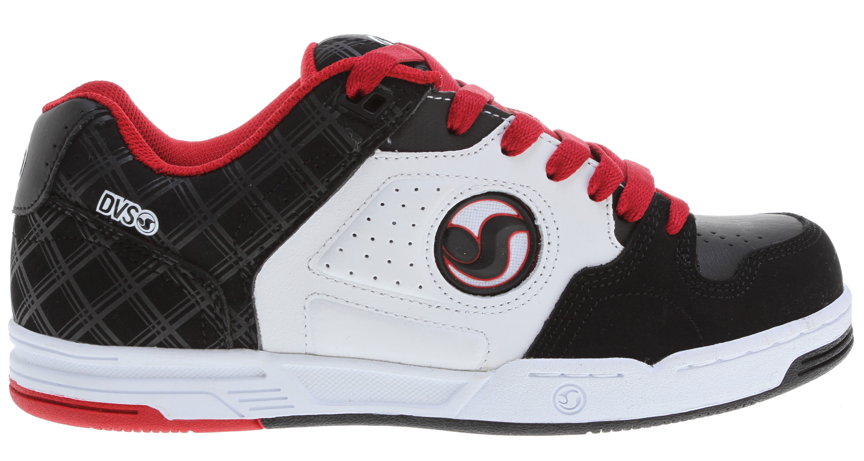 Skateboard Key Features of the DVS Havoc Skate Shoes: Leather/Nubuck/Suede upper material Ventilated mesh panels for breathability High density collar & tongue padding Direct injected TPR quarter logo detail High impact insole & midsole unit Durable cupsole construction - $52.95
