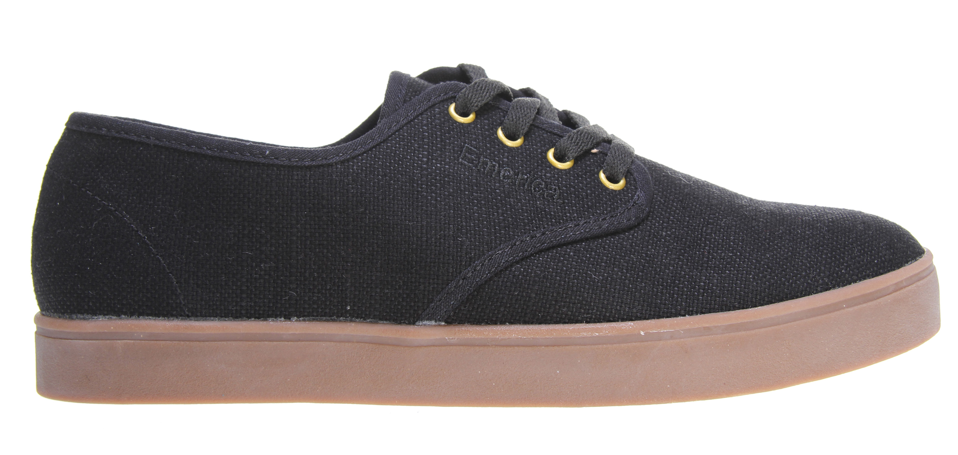 Skateboard Emerica team rider-inspired and desired, the Laced is a nice-priced, super-thin skate chiller that is, despite its name, meant to be worn without laces. just like Andrew runs 'em. Don't worry, a special hidden elastic band will keep these pups snug. But, we'll throw a set of laces in the box in case you want to tie up anyway.Key Features of the Emerica Laced Skate Shoes: Lightweight textile or suede upper materials STI Foam Lite level 1 footbed 400 NBS natural gum rubber cupsole - $44.95