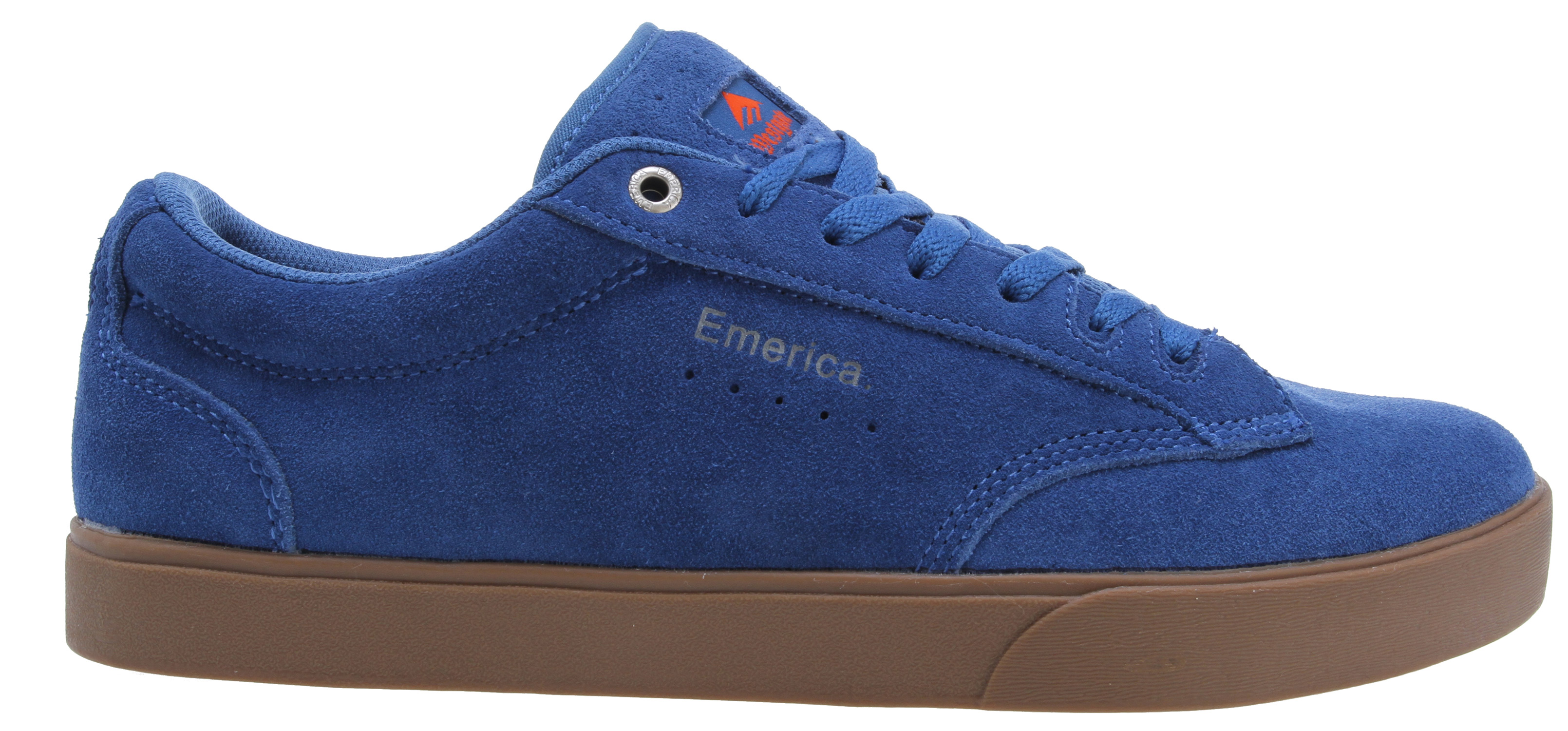 Skateboard Brandon Westgate's second Emerica shoe is a low-key + high-performance nailer.Key Features of the Emerica The Flick Skate Shoes: Thin padded tongue and collar Foam Pro 1 footbed Full-length internal EVA midsole Natural gum rubber outsole - $44.95