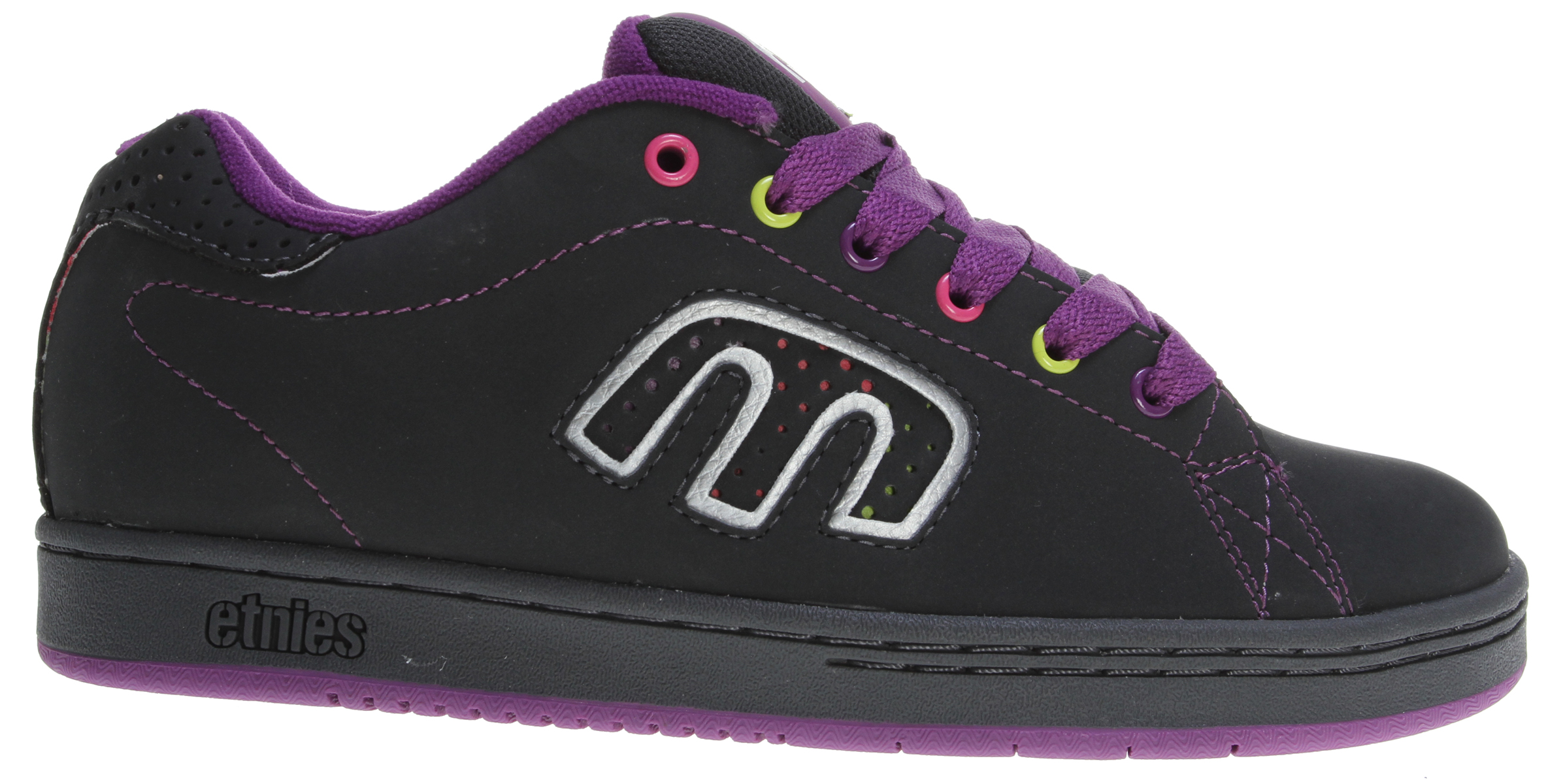 Skateboard Key Features of the Etnies Callicut 2.0 Skate Shoes: Trademark etnies stylized E logo integrated into the quarter panel area Elastic tongue-centering straps Padded tongue and collar STI Foam Lite level 1 footbed New 300 NBS rubber outsole with internal EVA midsole - $44.95